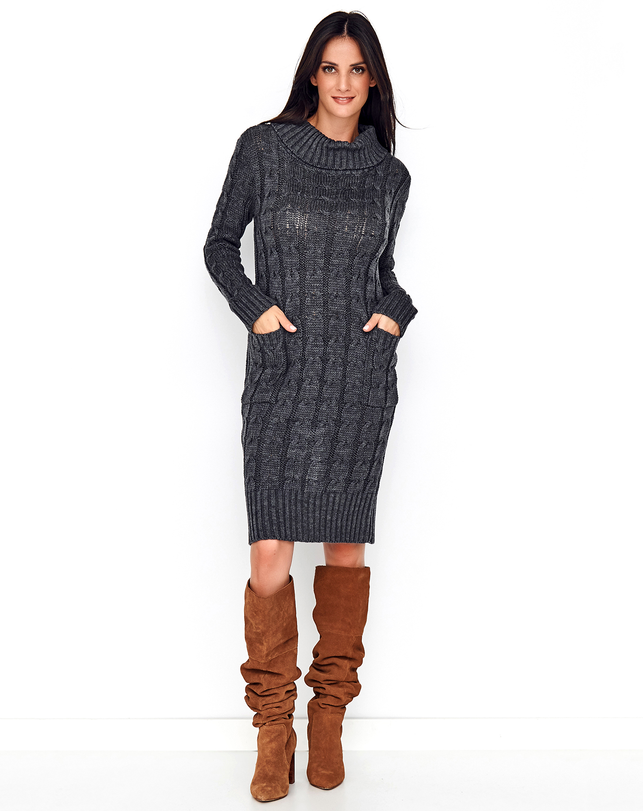 Robe pull Louise gris chiné