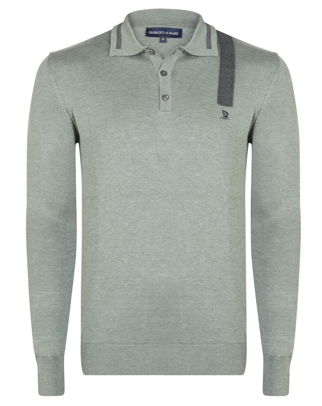 Pull polo gris