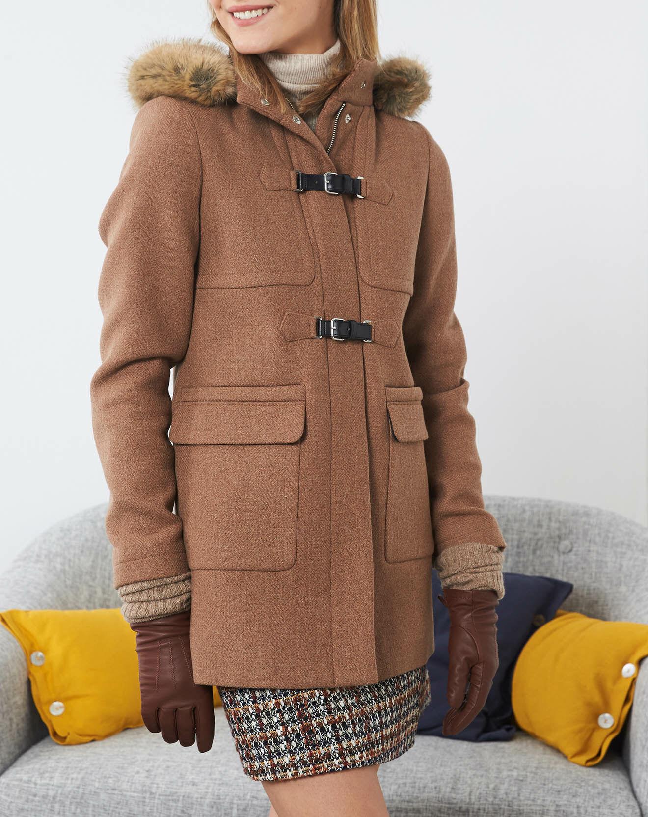 Manteau en Laine mélangée Garry fantaisie écureuil