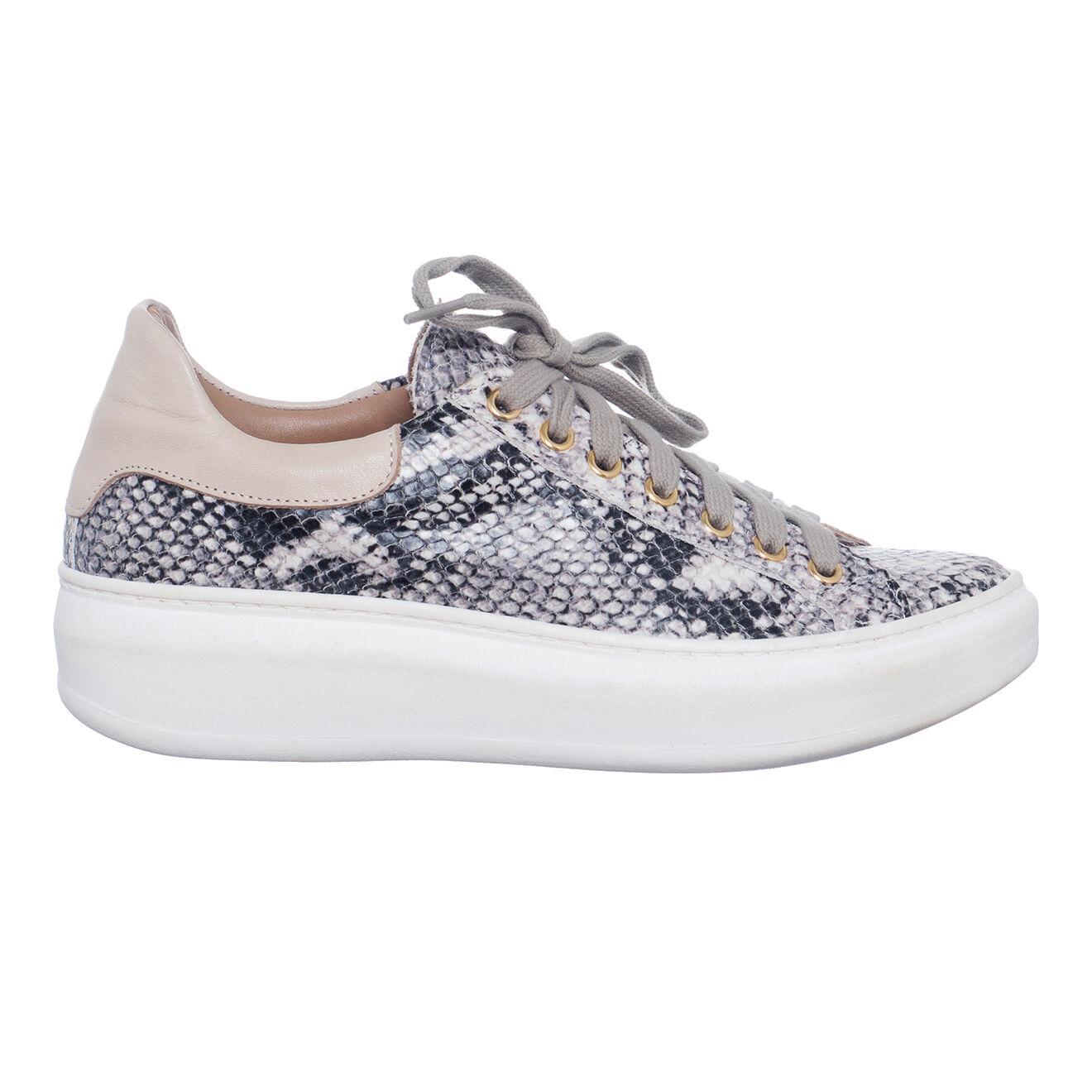 Sneakers en Cuir Alex python gris/noir - Loretta Pettinari - Modalova