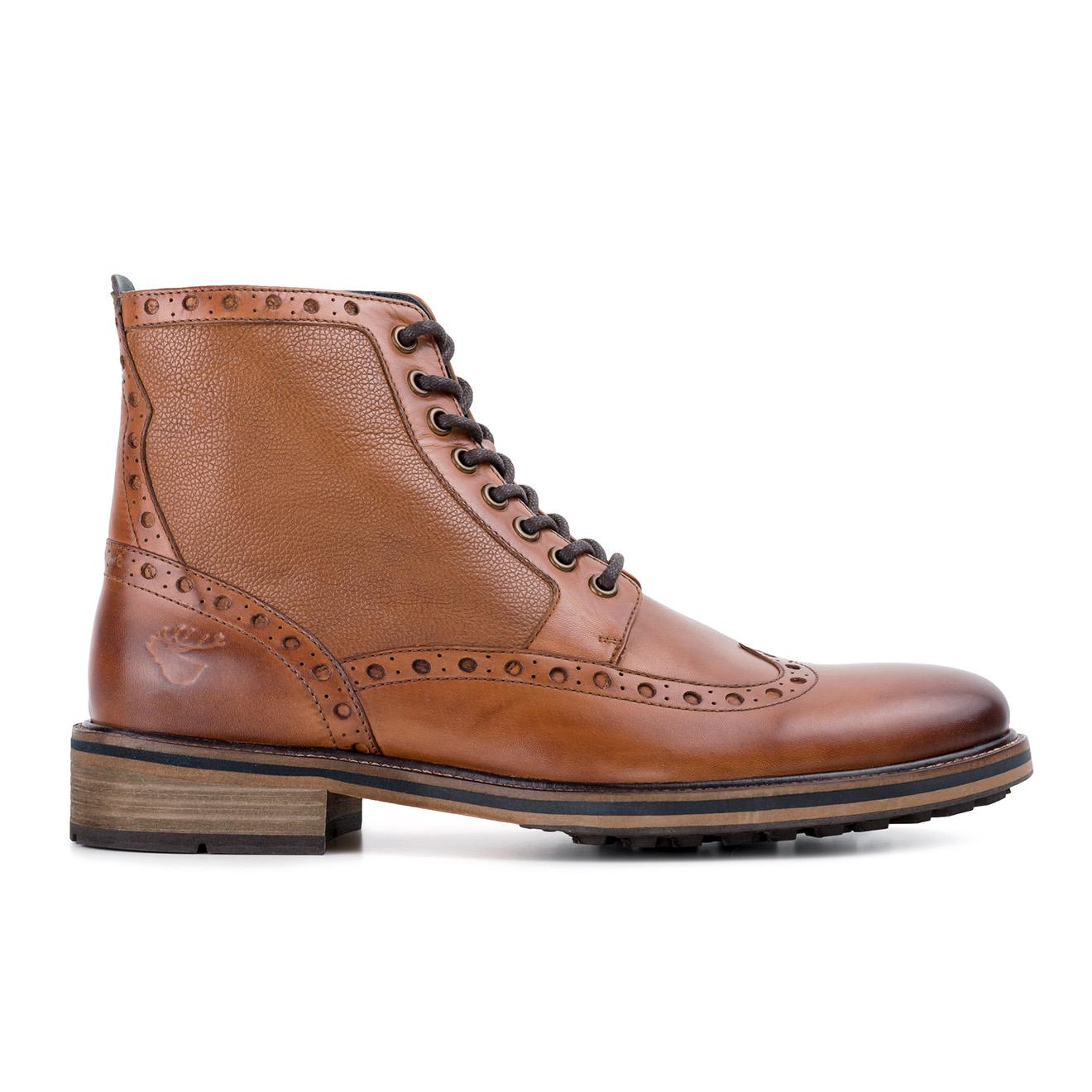Boots en Cuir Emrick cognac