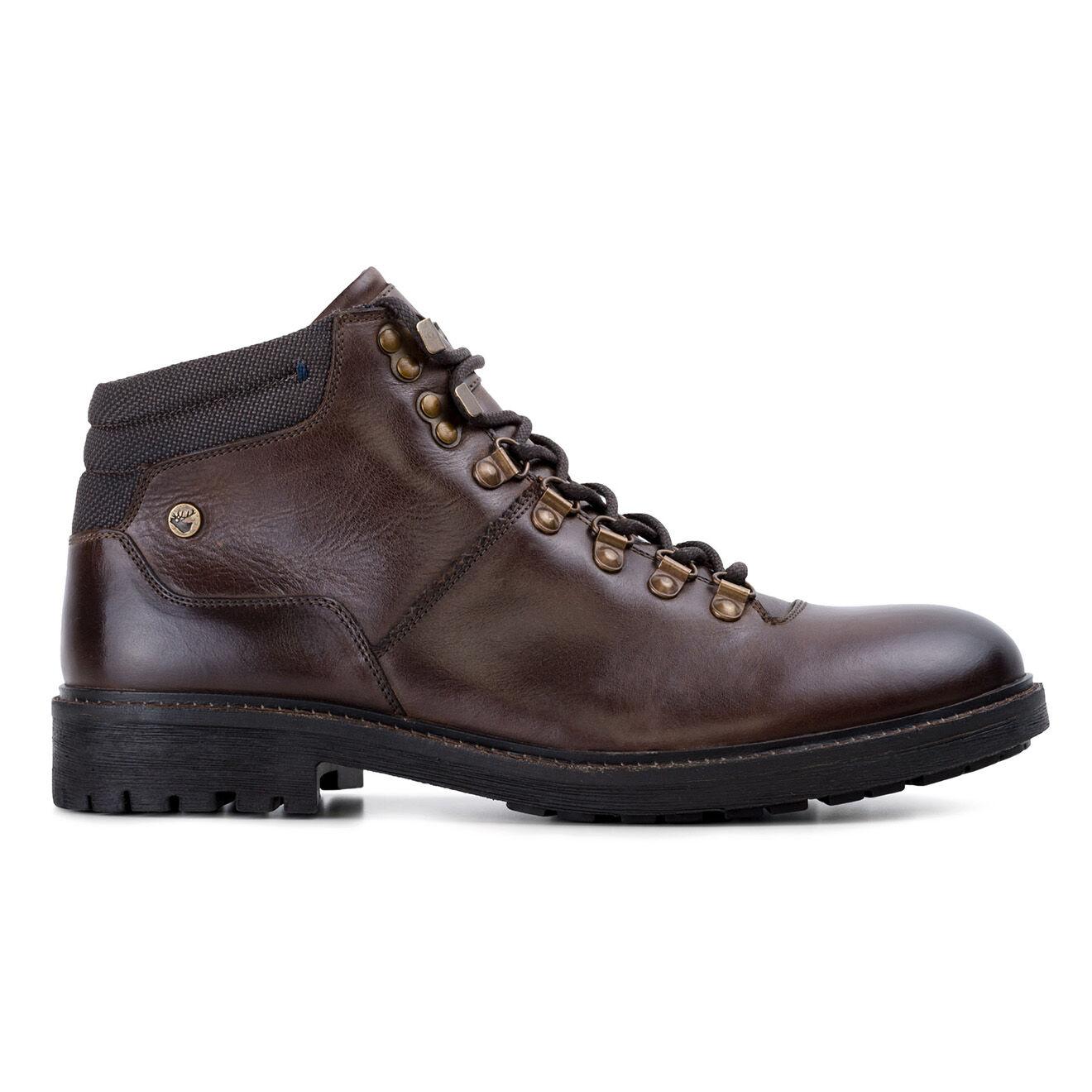 Boots en Cuir Zac marron