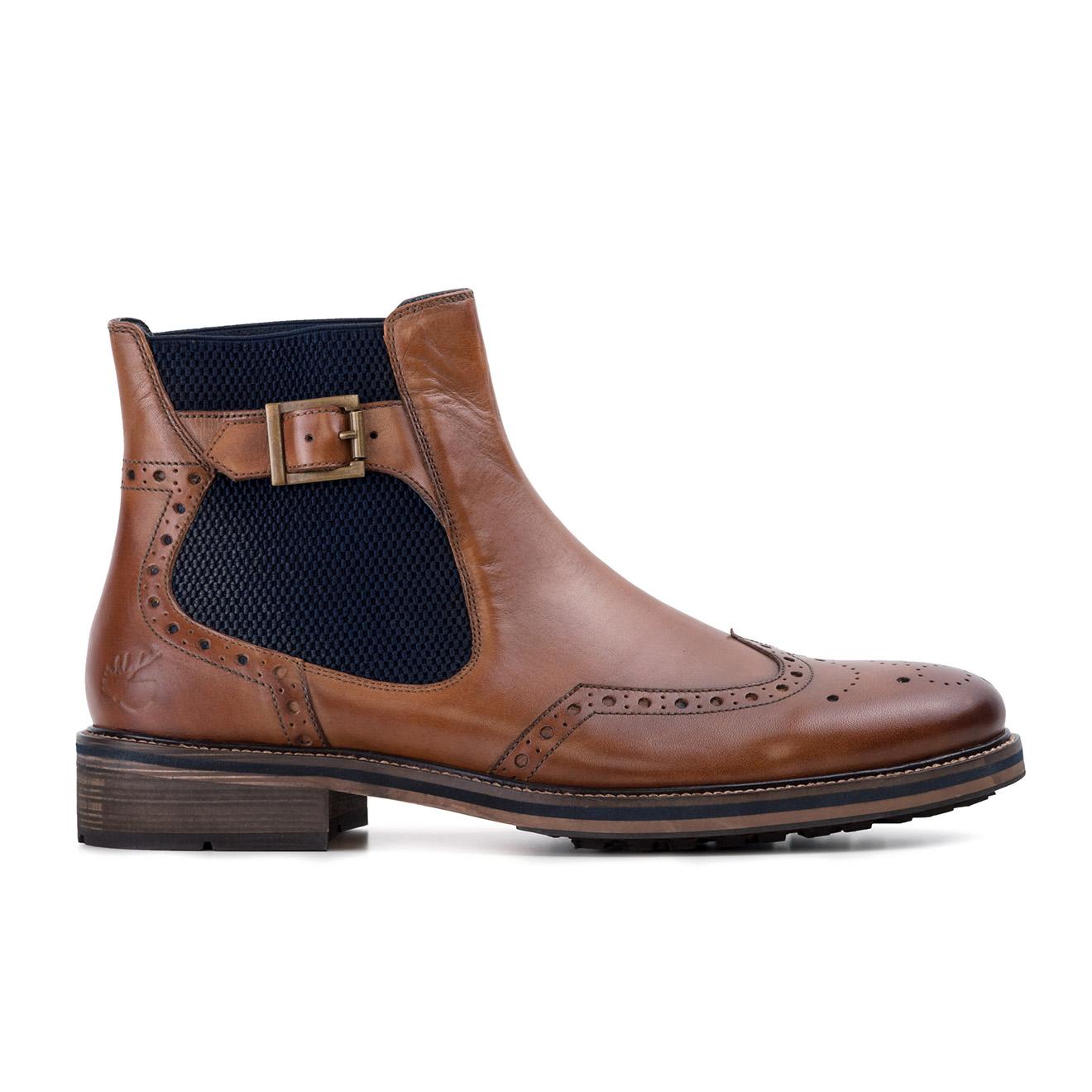 Chelsea boots en Cuir Watson cognac