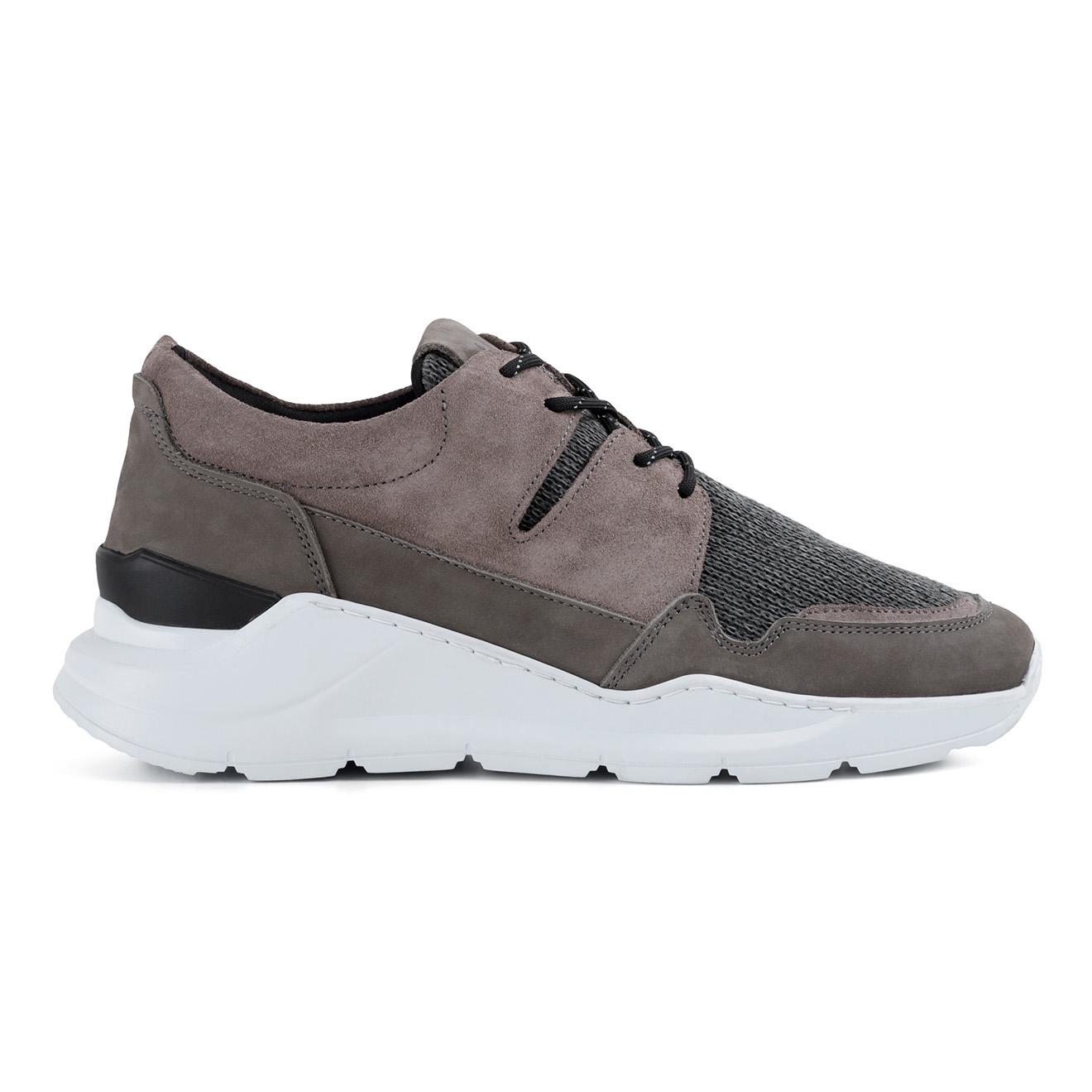 Sneakers en Velours de Cuir Guilhem grises