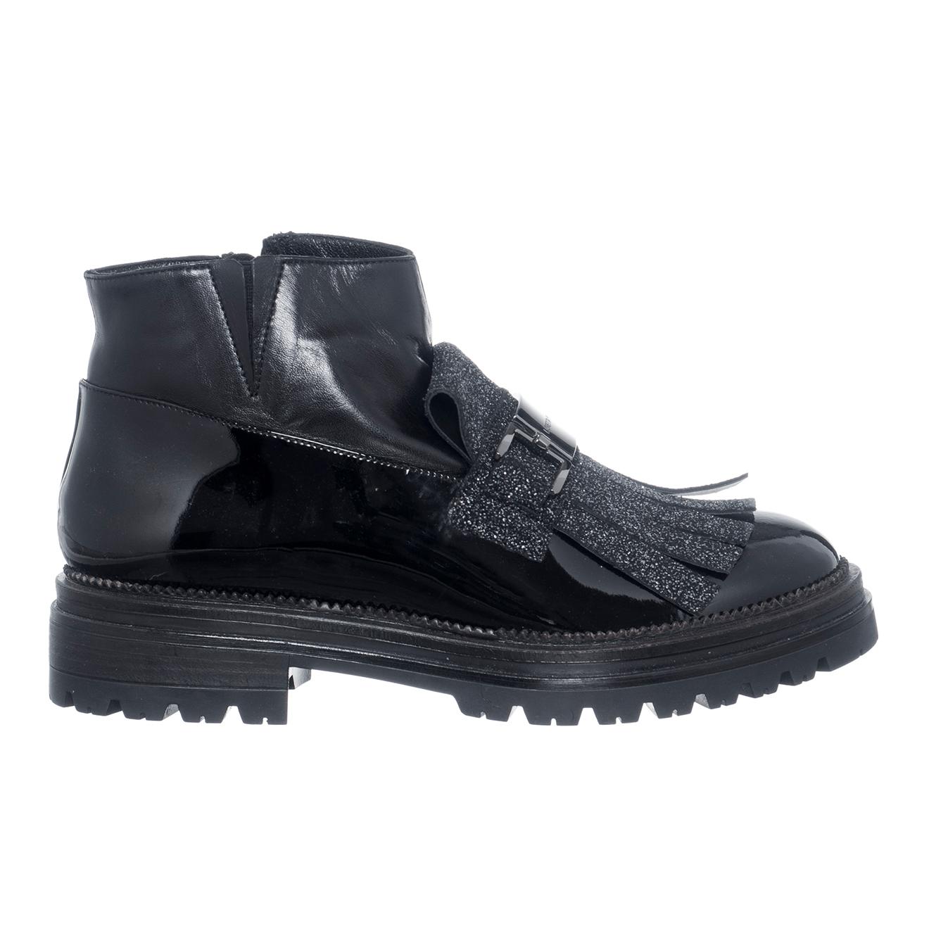 Boots en Cuir Montone noires - Loretta Pettinari - Modalova