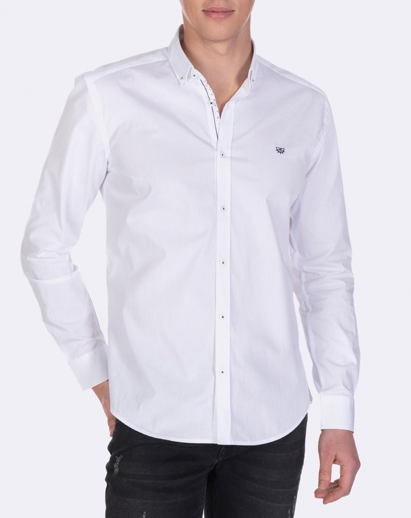 Chemise logo sur coeur blanche