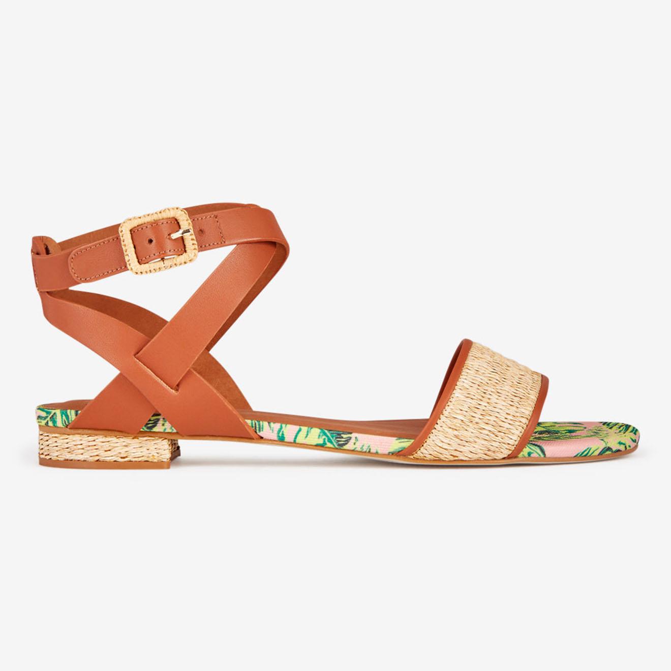 Sandales en Cuir Fira camel - Mellow Yellow - Modalova