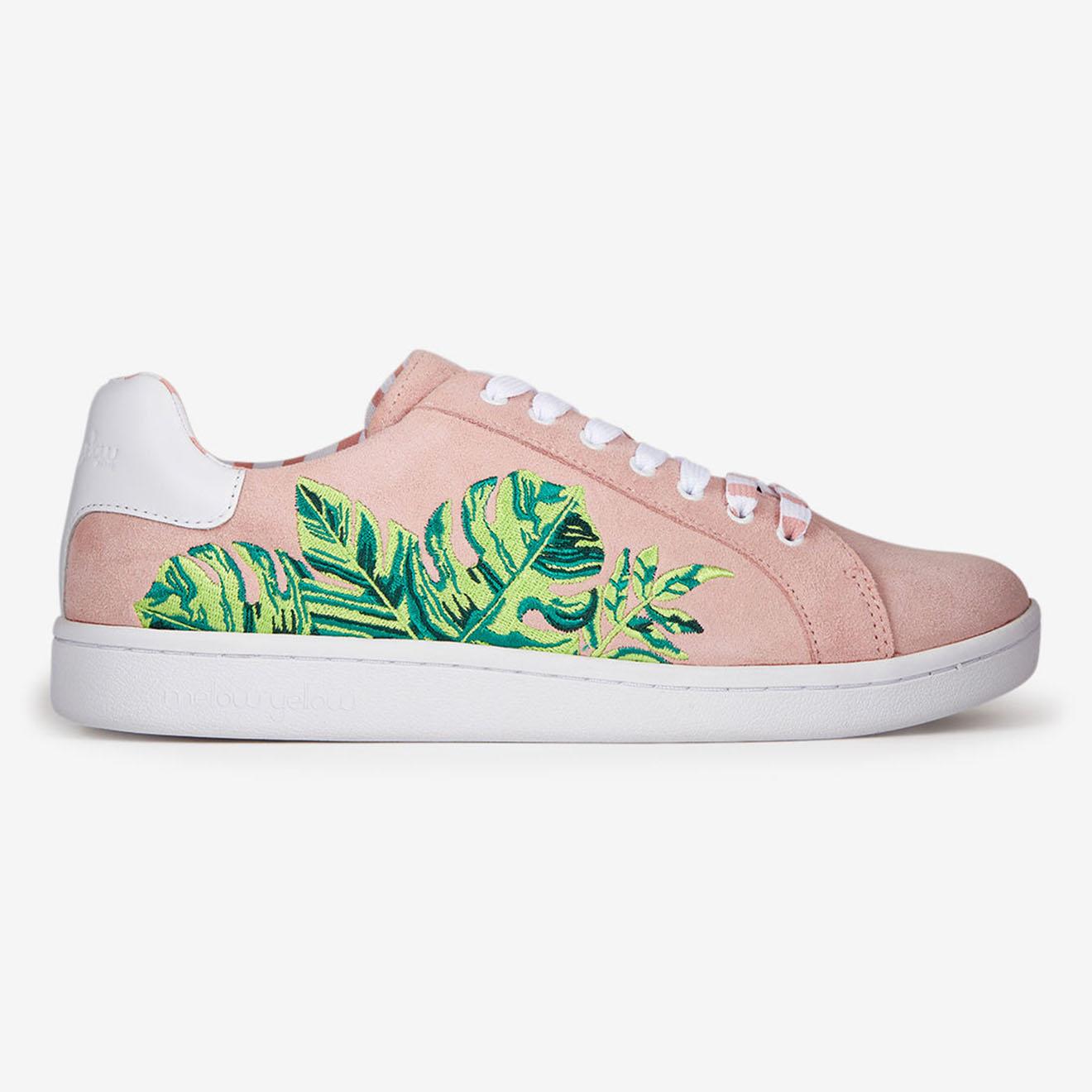 Sneakers en Velours de Cuir Faleaf roses - Mellow Yellow - Modalova