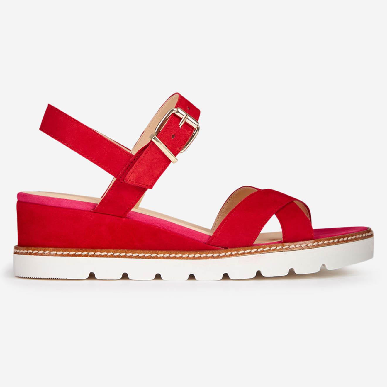Sandales en Cuir Foili rouges - Talon 5 cm - Mellow Yellow - Modalova