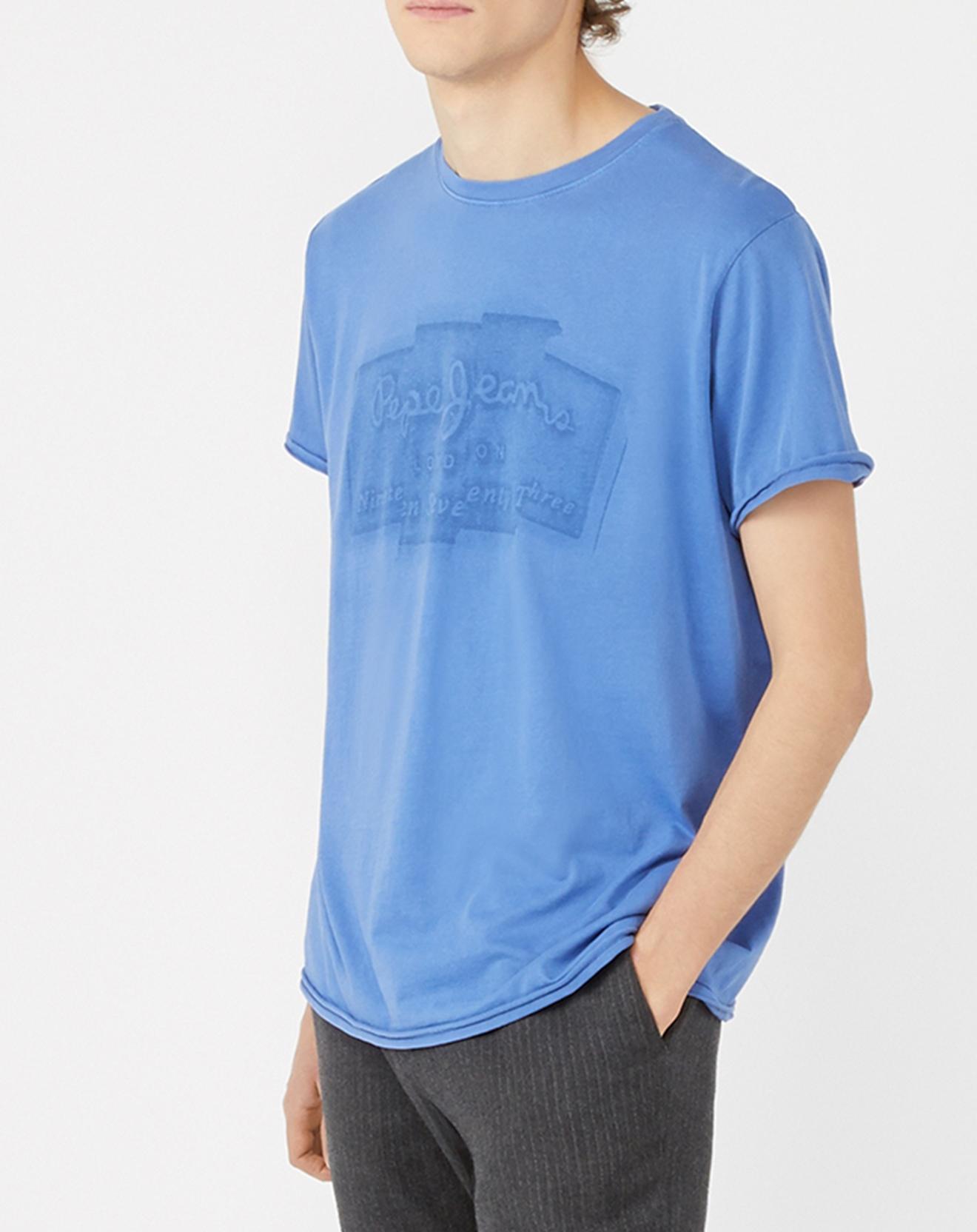 T-Shirt Logo Box Izzo bleu - Pepe Jeans - Modalova