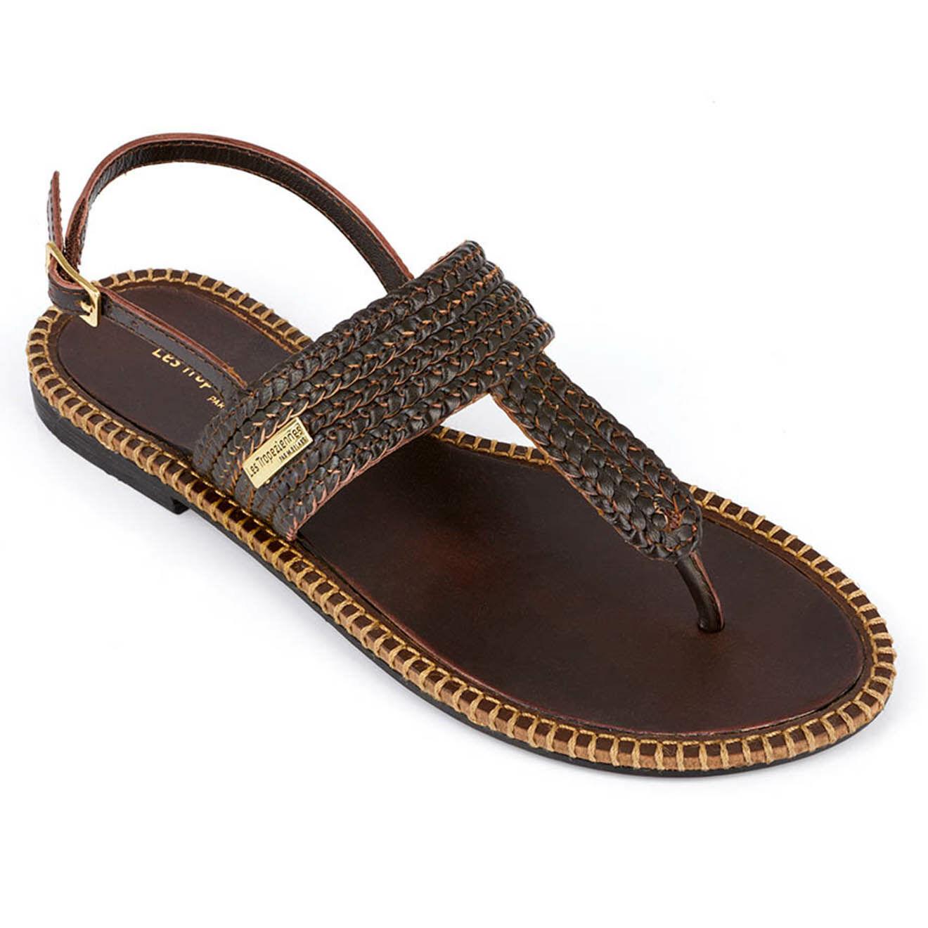 Sandales entre-doigts en Cuir Opper - Les Tropeziennes - Modalova