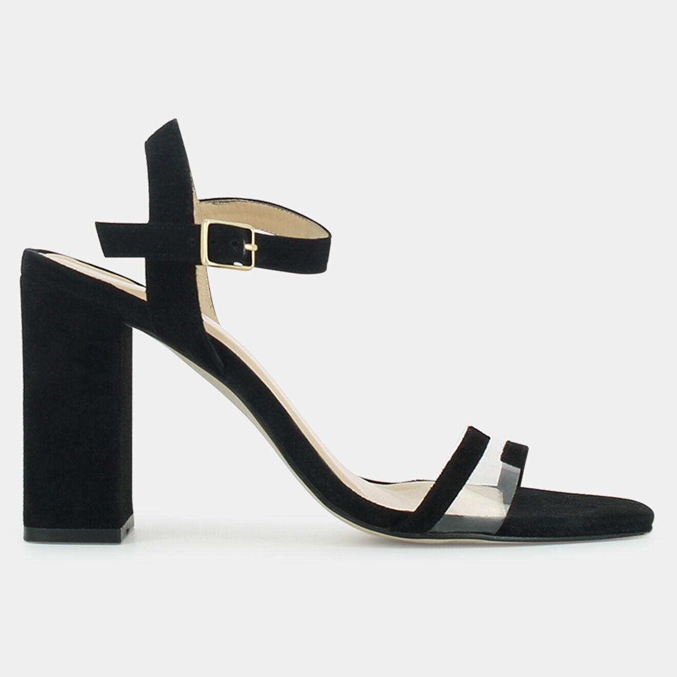 Sandales en Velours de Cuir Vitamie noires - Talon 8.5 cm - Jonak - Modalova