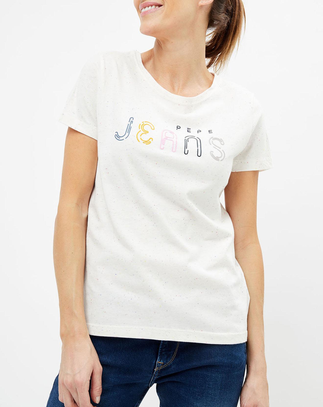 T-Shirt Dallas à motif blanc - Pepe Jeans - Modalova