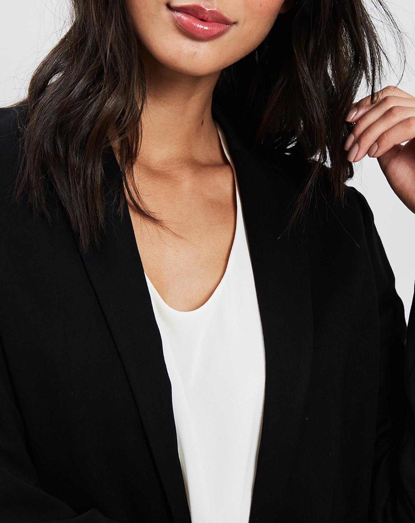 Veste blazer noire - Sisley - Modalova