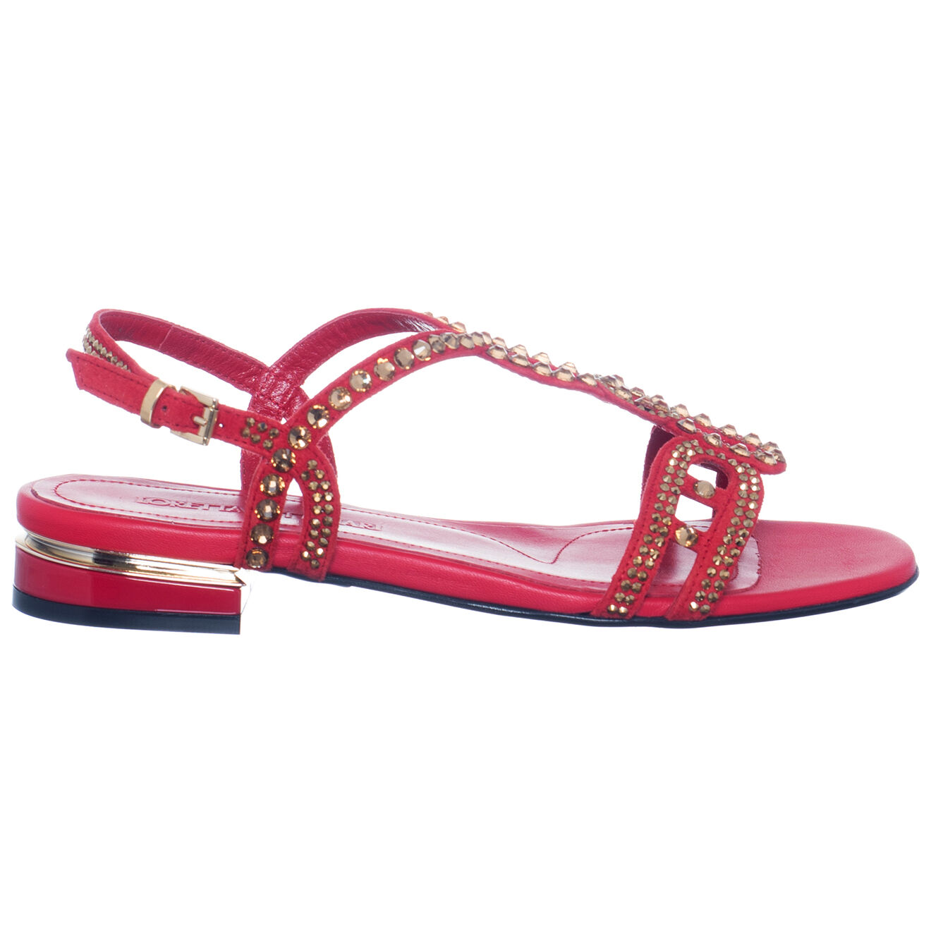 Sandales en Cuir Cassis rouges - Loretta Pettinari - Modalova