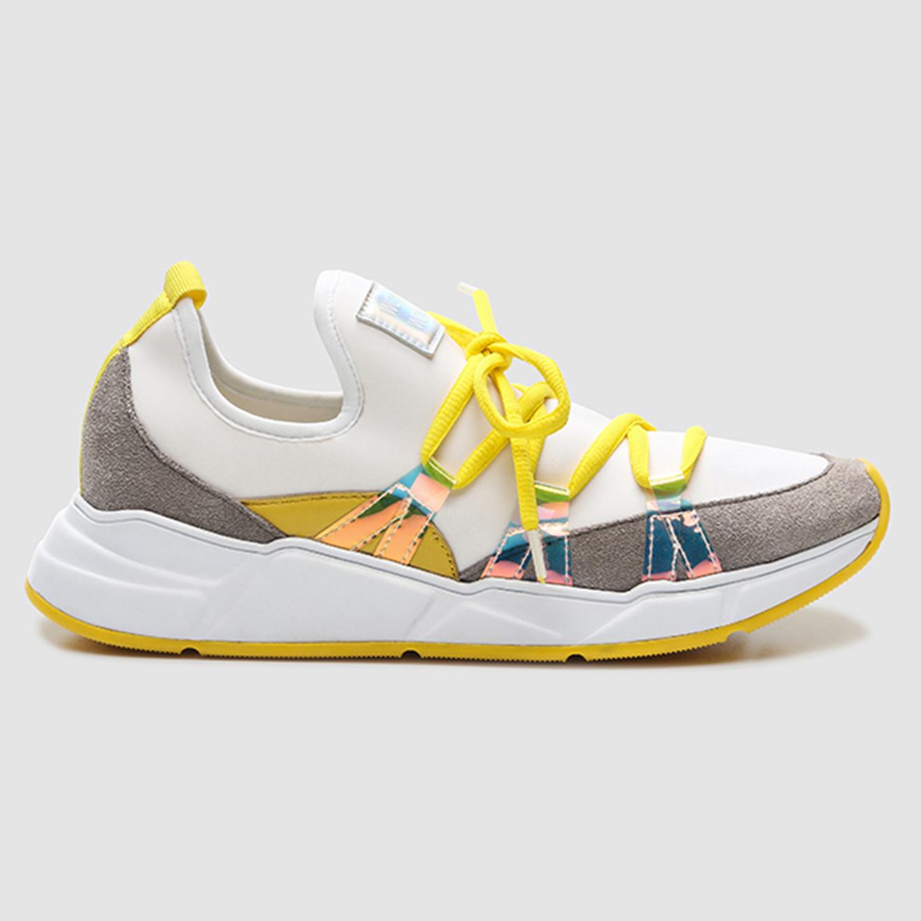 Sneakers Dyca blanc/jaune - Cosmoparis - Modalova