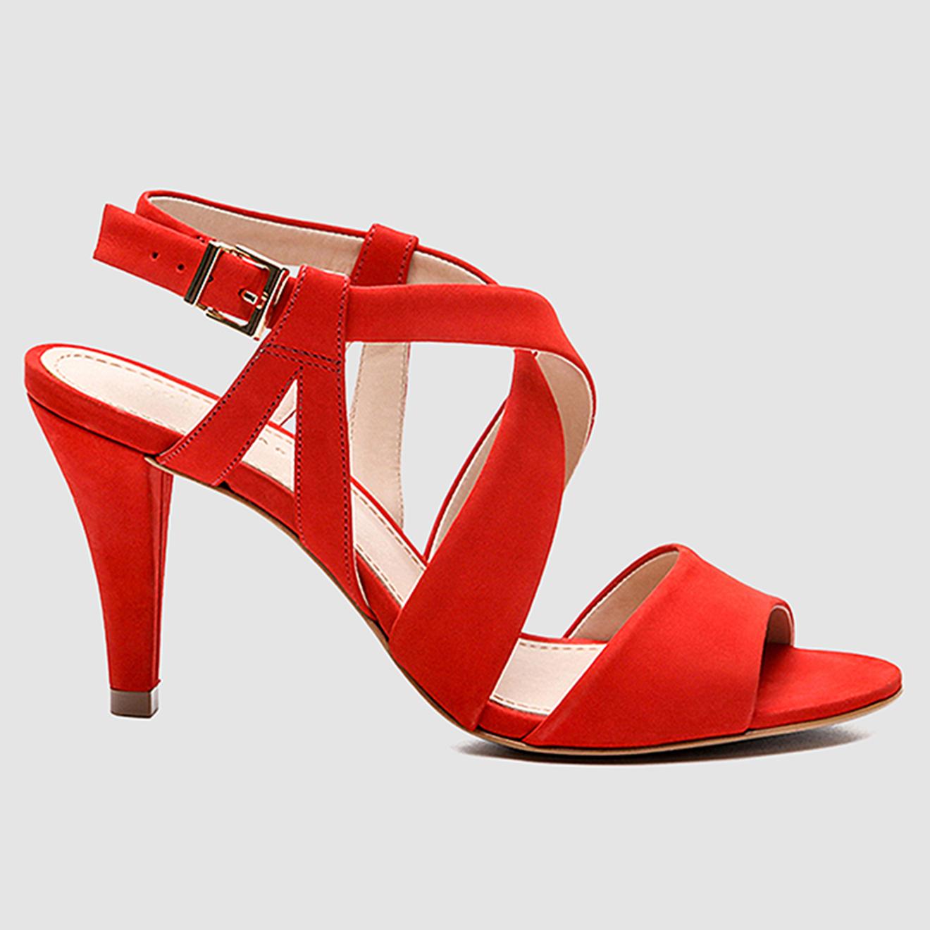 Sandales en Velours de Cuir Jiji - Talon 8 cm - Cosmoparis - Modalova