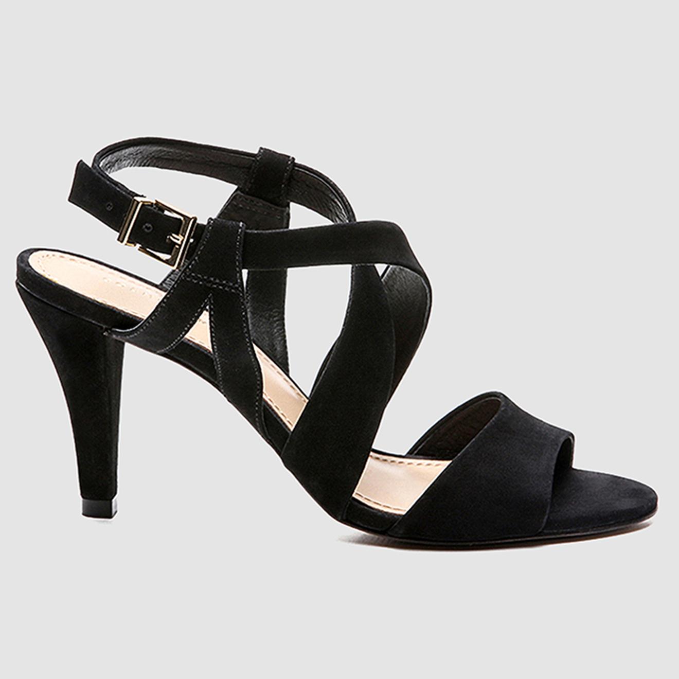 Sandales en Velours de Cuir Jiji noires - Talon 8 cm - Cosmoparis - Modalova