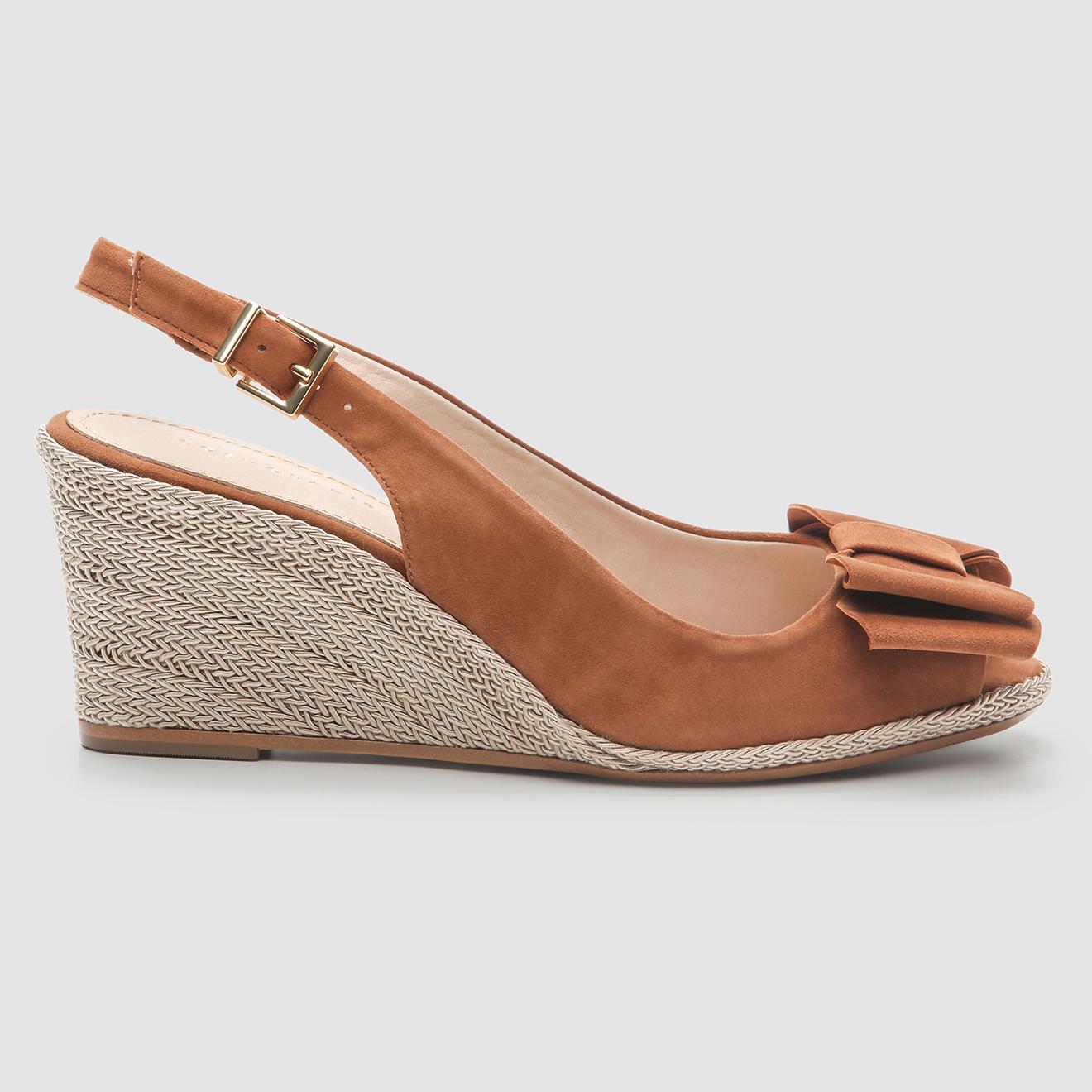 Sandales compensées en Velours de Cuir Lizia - Talon 7 cm - Cosmoparis - Modalova
