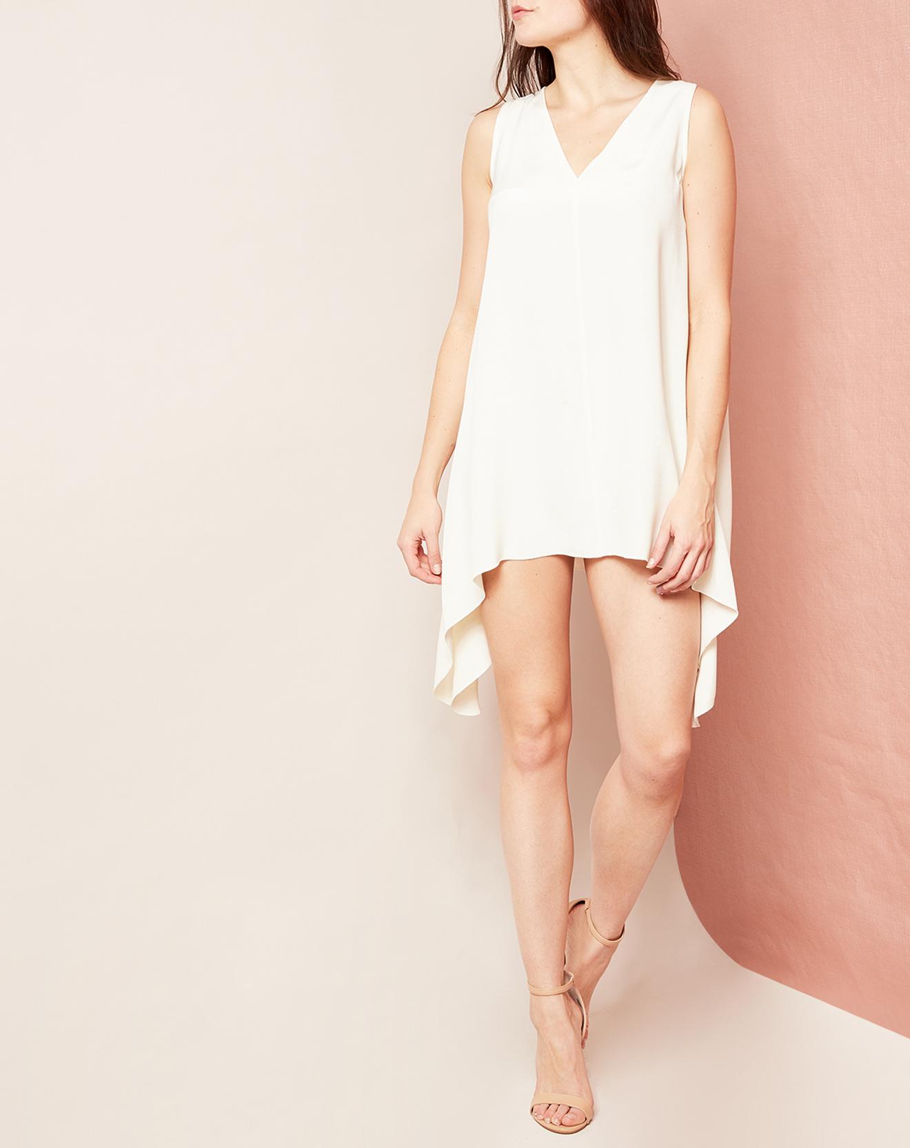 Tunique/Robe sans manches 100% Soie crème - Hotel Particulier - Modalova