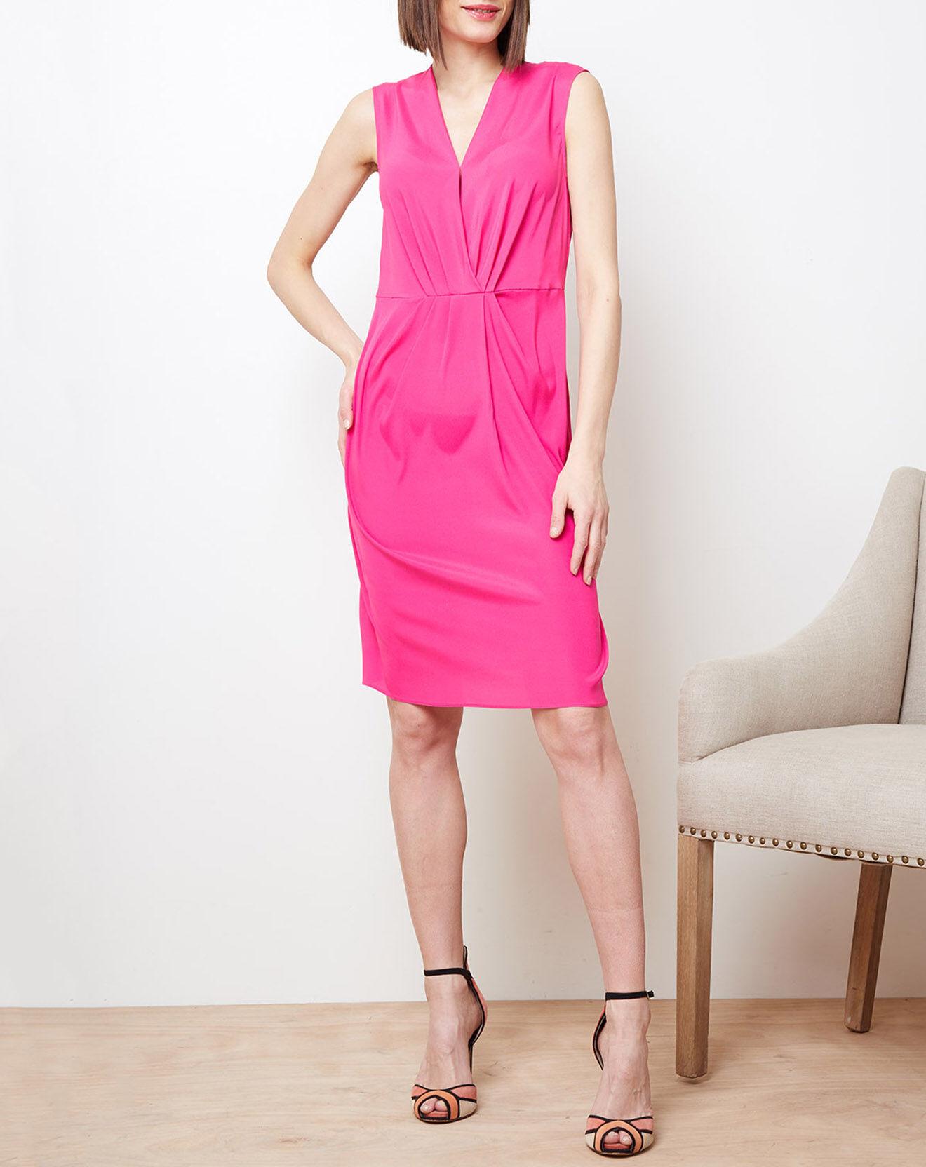 Robe drapée en Soie mélangée rose - Cacharel - Modalova