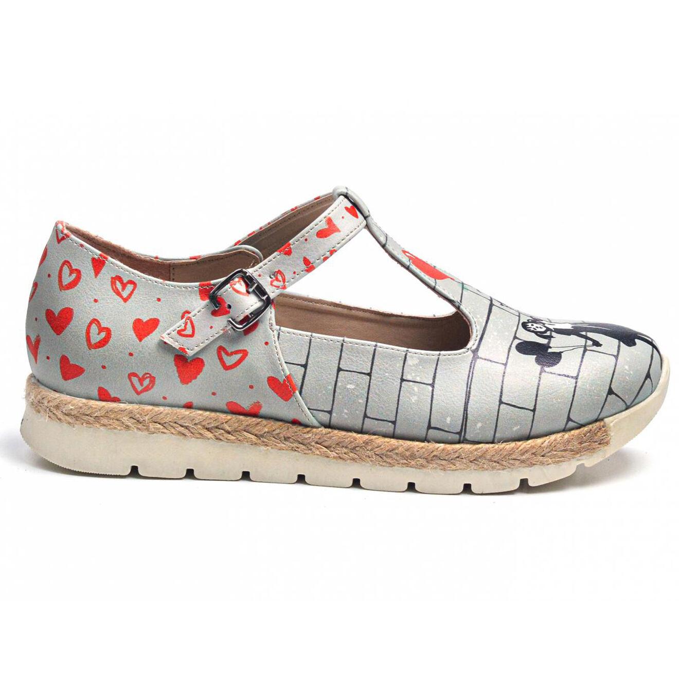 Sandales Artiste gris/rouge - Goby - Modalova