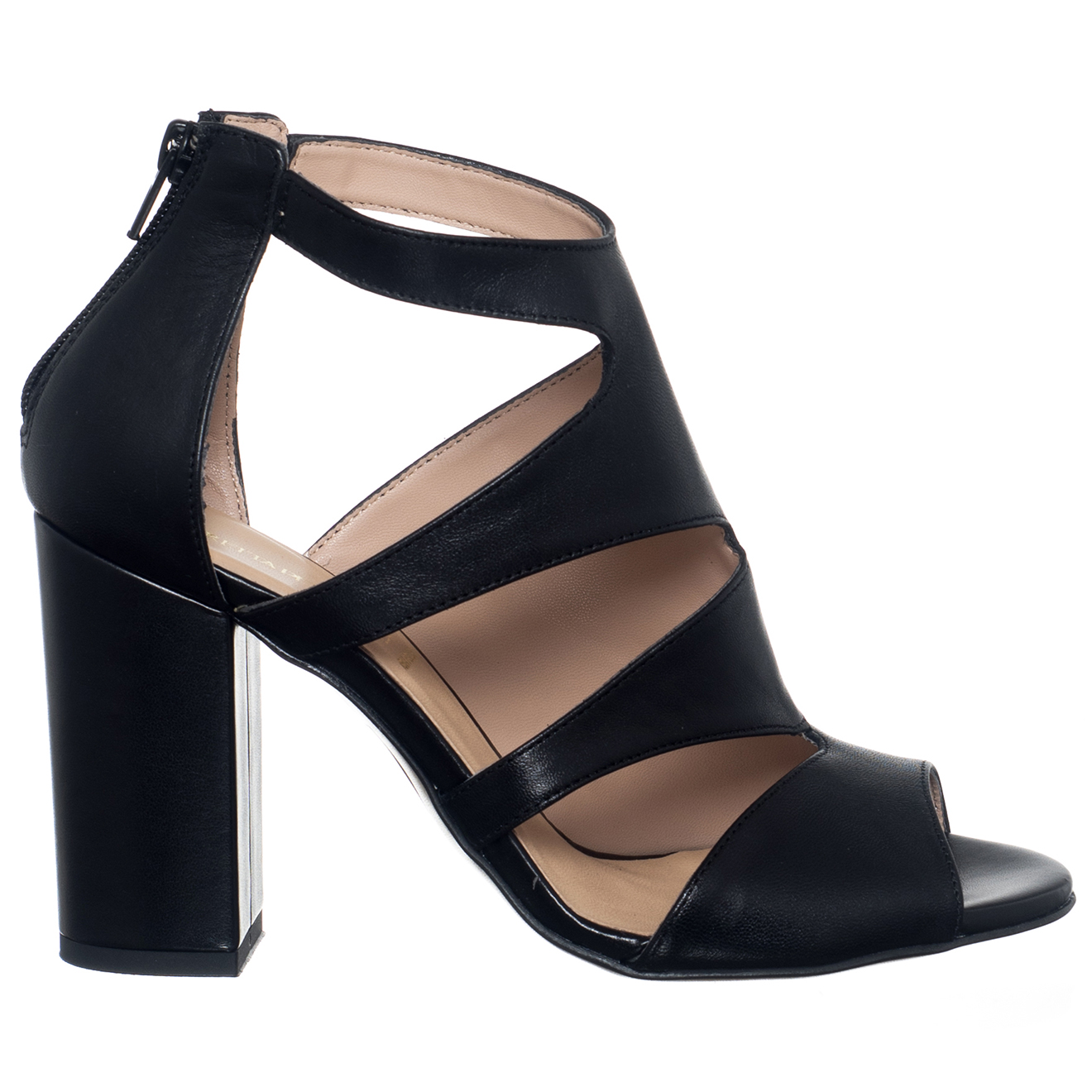 Sandales en Cuir Aurore noires - Talon 9 cm - Loretta Pettinari - Modalova