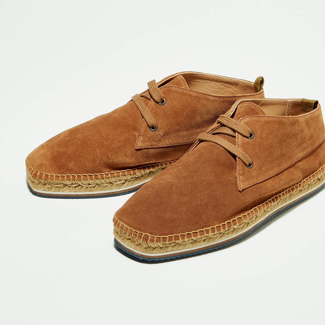 Chukka boots en Velours de Cuir Bruno camel - Castaner - Modalova