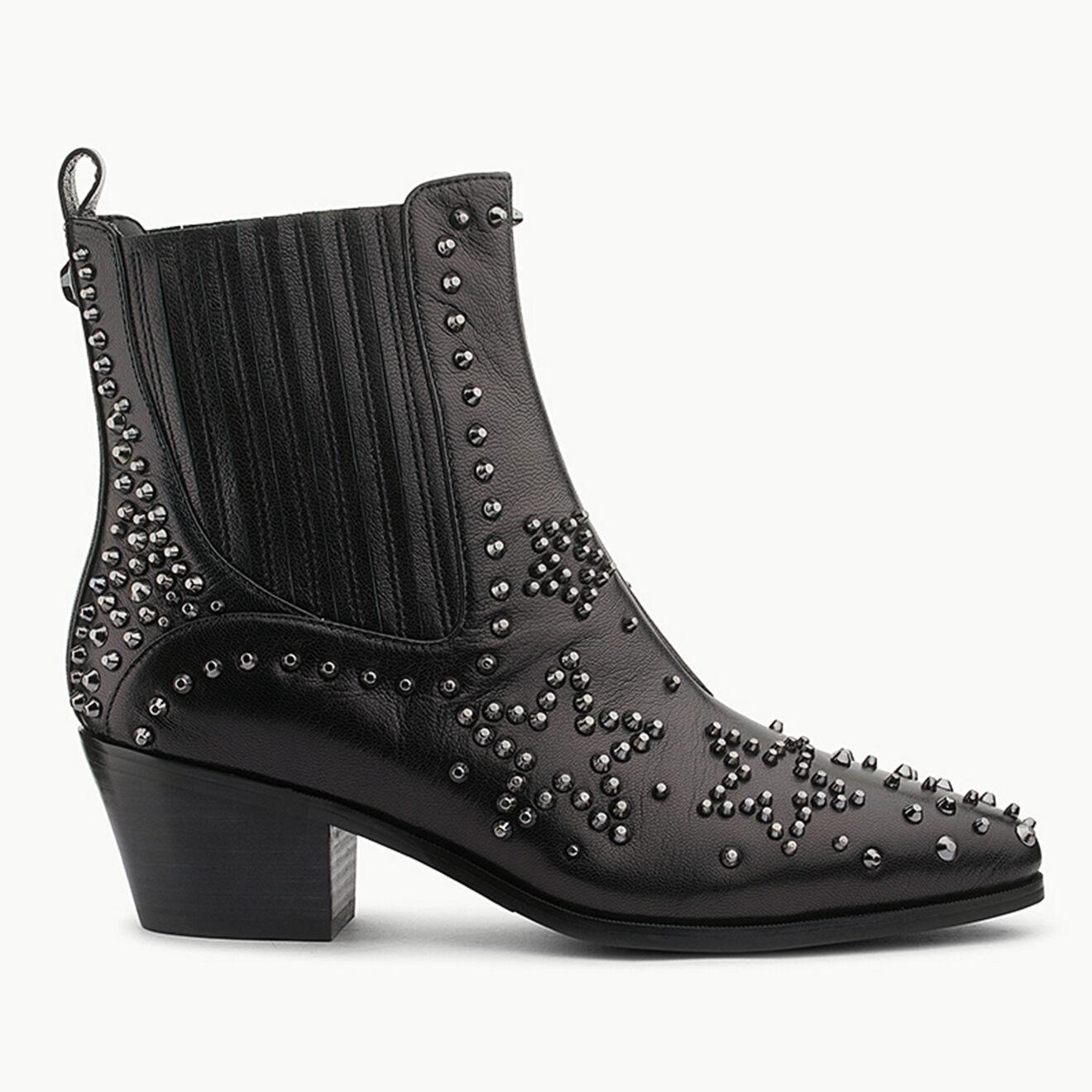 Chelsea Boots en Cuir Bonnie noires - Talon 5 cm - Liu-Jo - Modalova