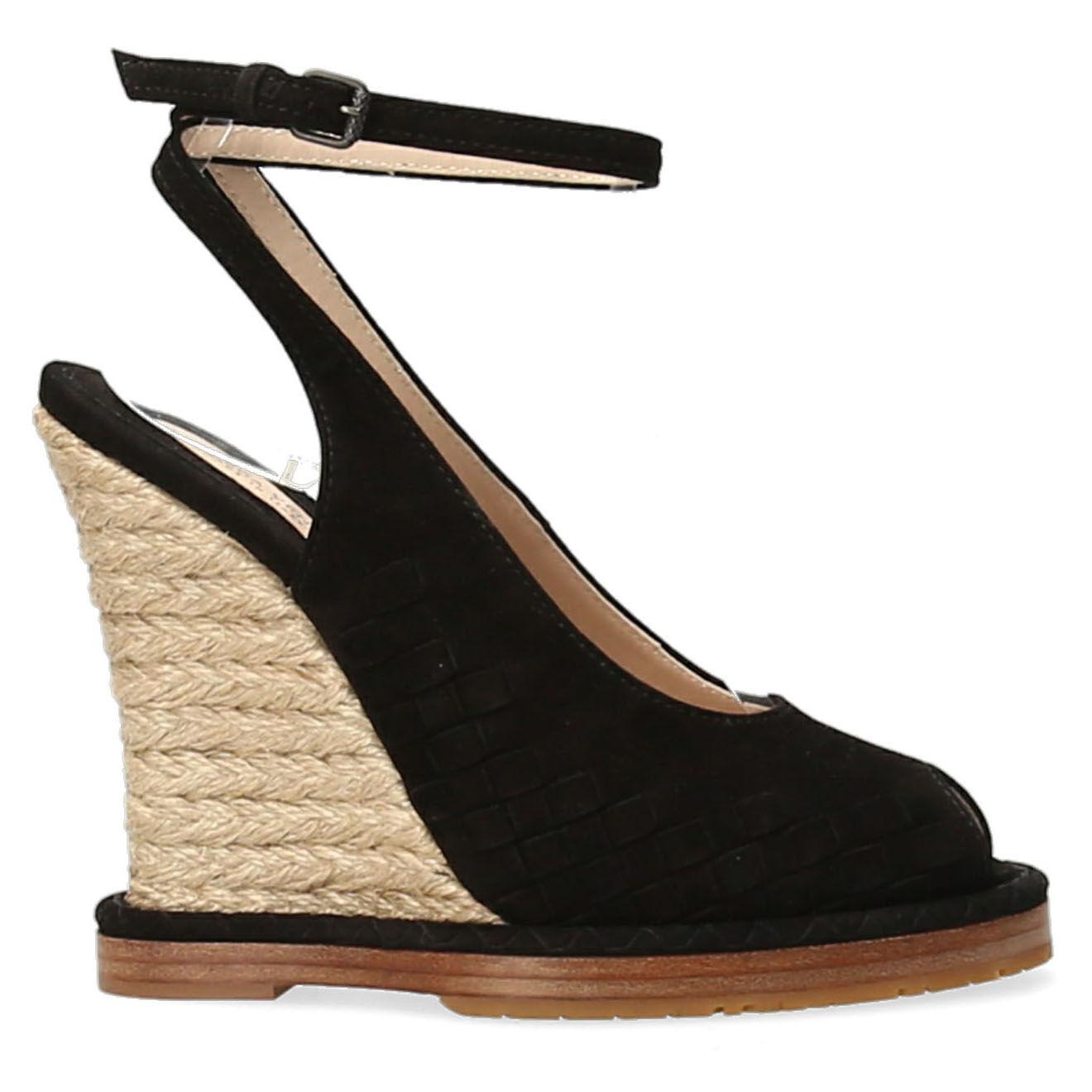 Sandales compensées en Velours de Cuir - Talon 10.5 cm - Bottega veneta - Modalova