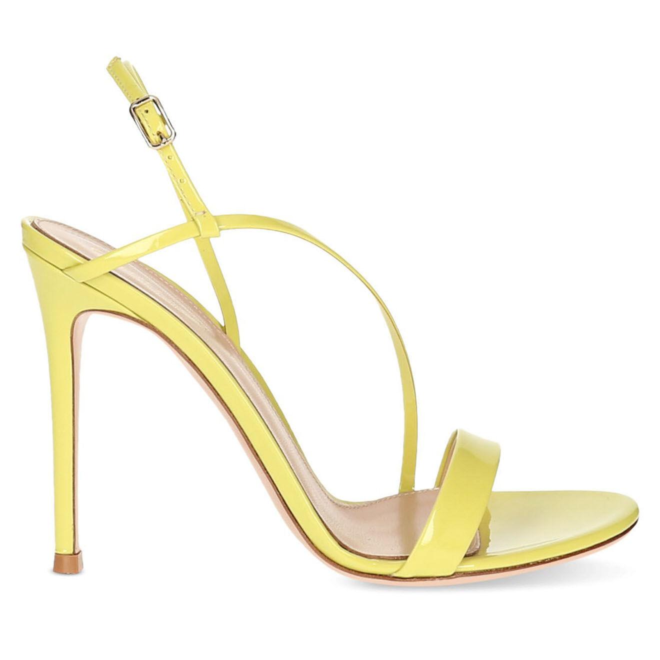 Sandales en Cuir verni - Talon 11 cm - Gianvito Rossi - Modalova