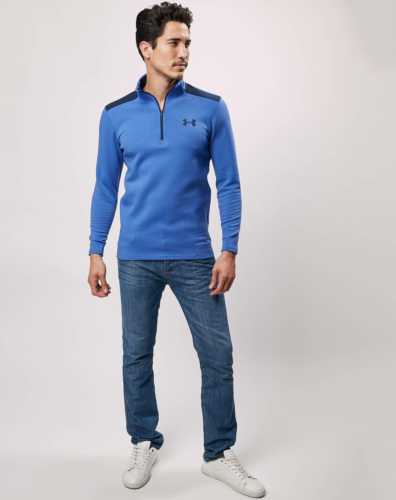 T-Shirt Storm ½ Zip bleu - Under Armour - Modalova