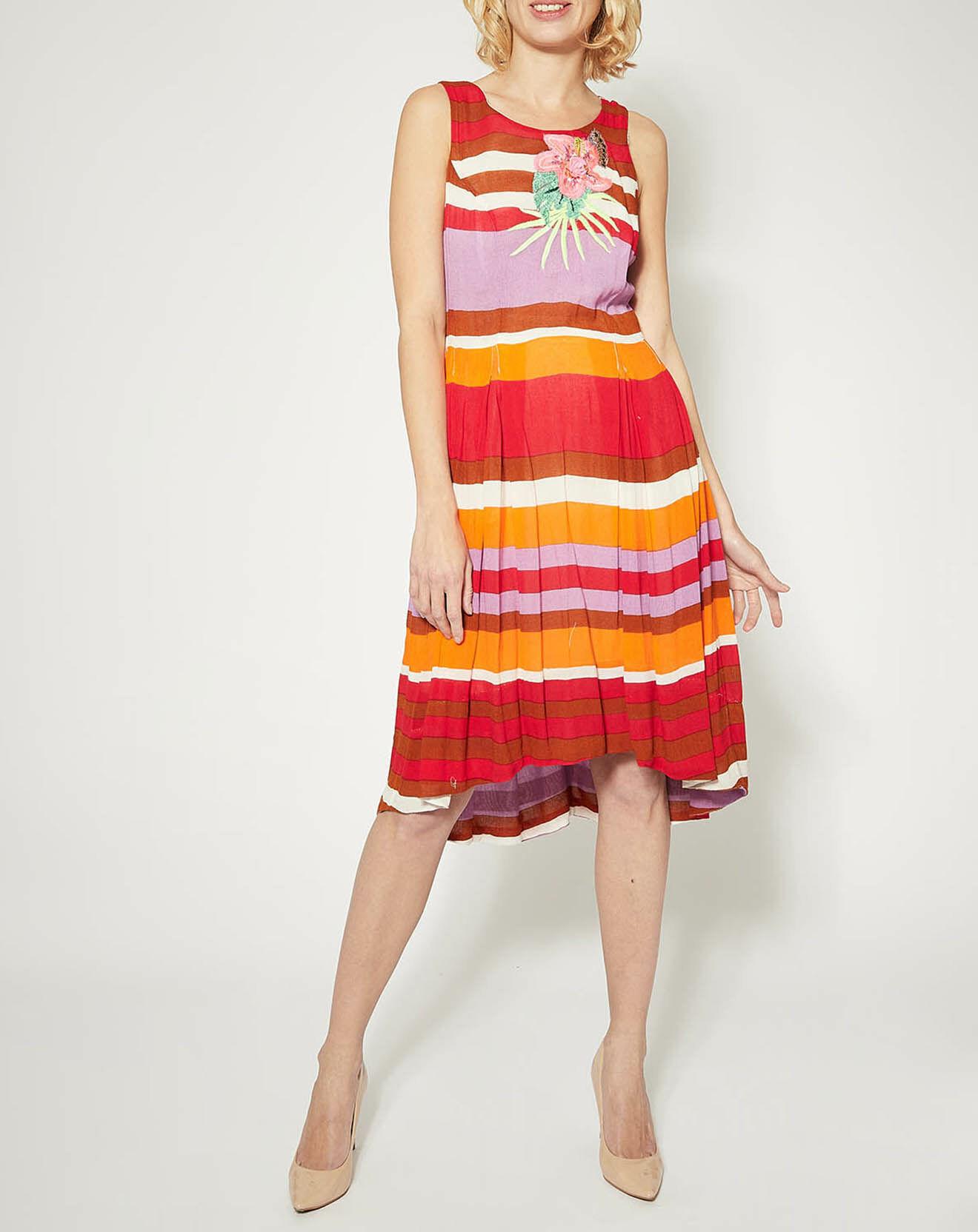 Robe Alcane rayures contrastantes rouge - Derhy - Modalova