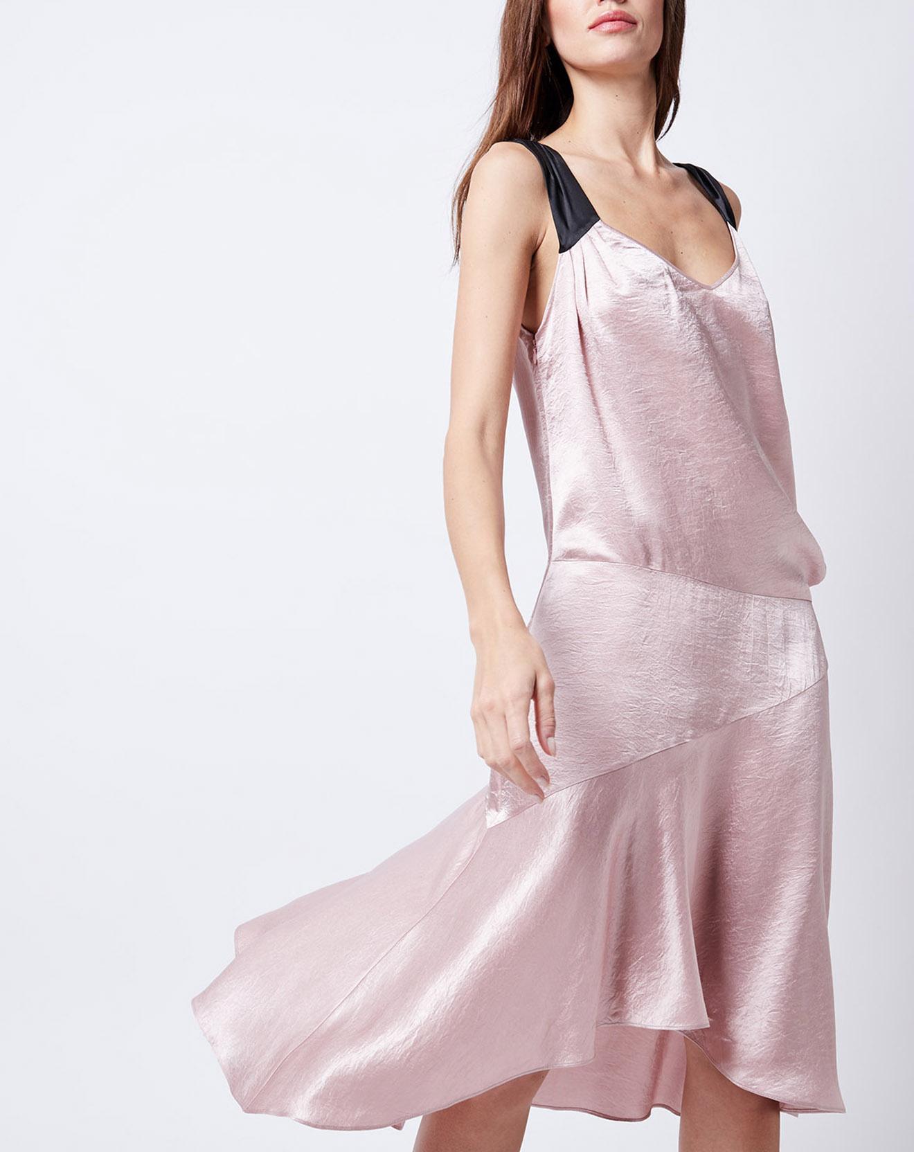 Robe satinée rose - John Galliano - Modalova