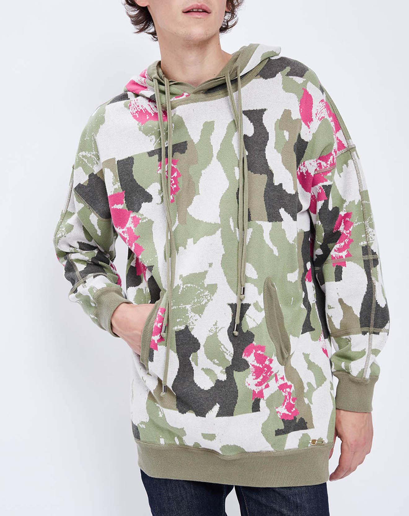 Sweat camouflage kaki/beige/rose - John Galliano - Modalova