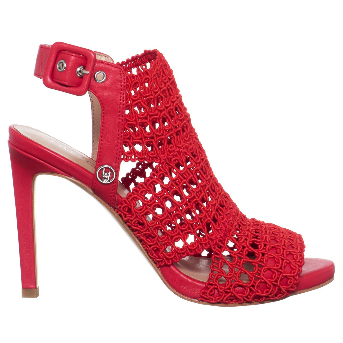 Sandales en Cuir & Textile Bloom rouges - Talon 10 cm - Liu-Jo - Modalova