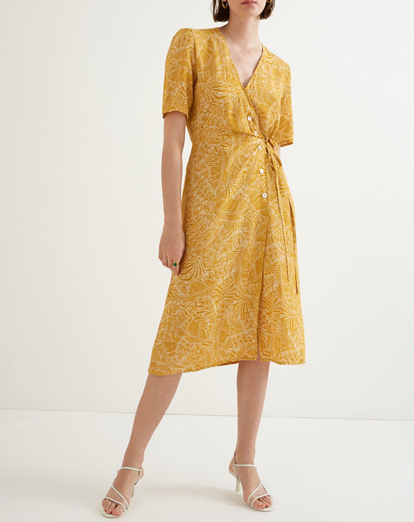 Robe Caily imprimée ocre - Suncoo - Modalova