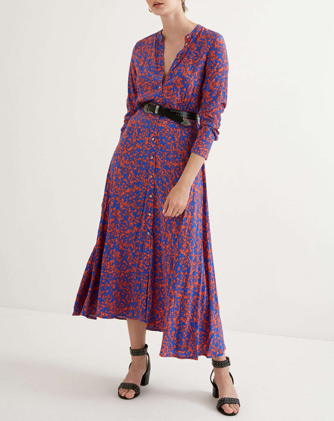Robe Capucine bleu roi/rouge - Suncoo - Modalova