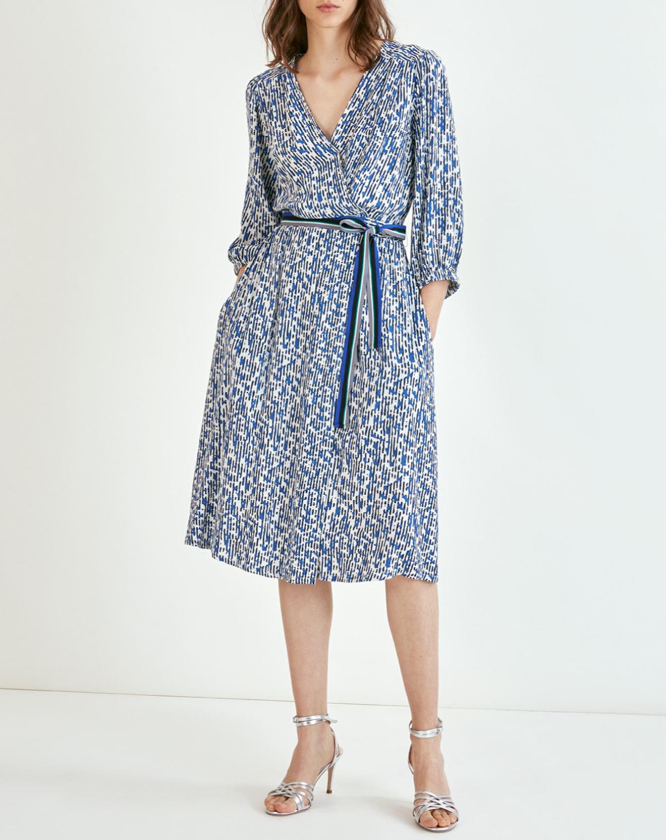 Robe Carmela imprimée bleu roi - Suncoo - Modalova