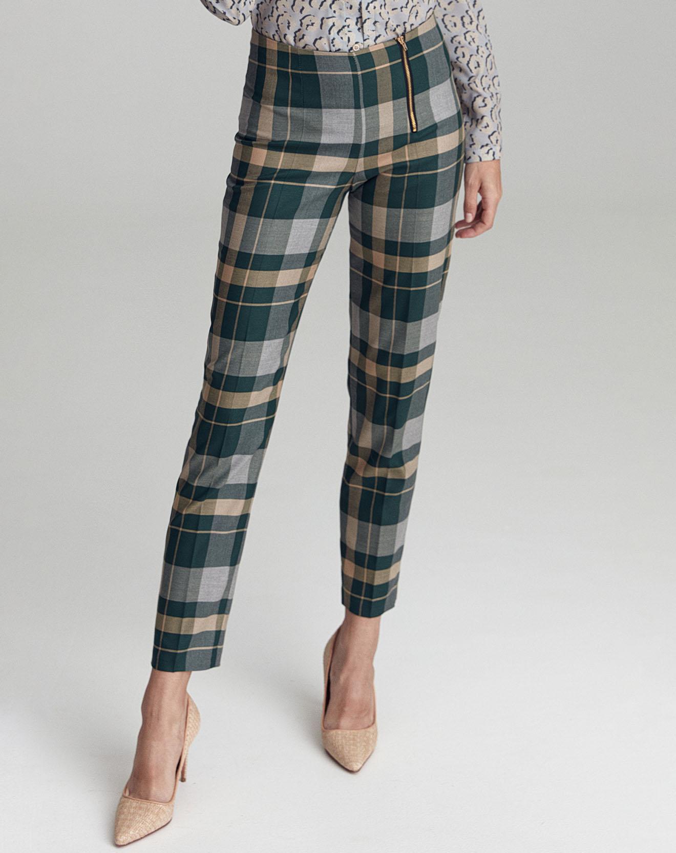 Pantalon Dominique vert/jaune/gris - Nife - Modalova