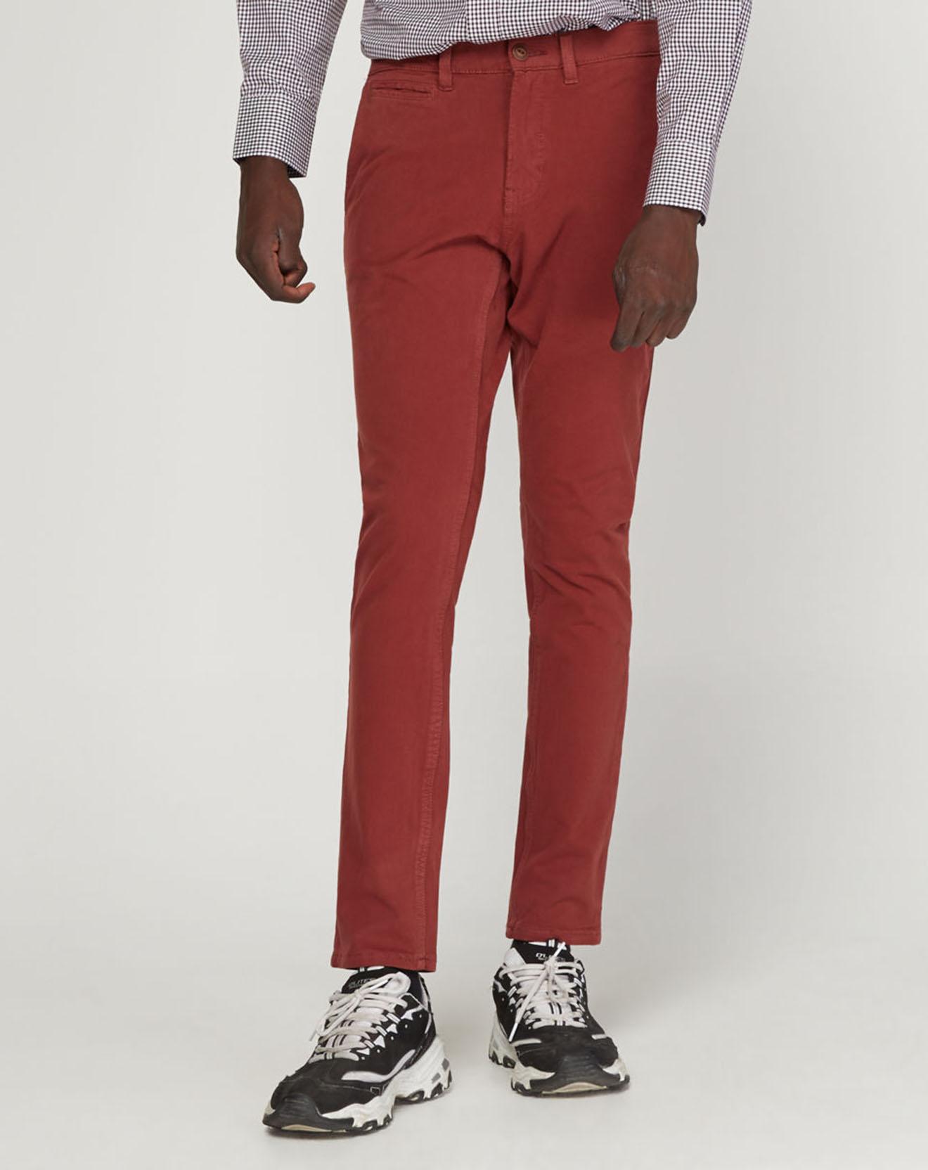 Pantalon chino Slim Krandi bordeaux - Quiksilver - Modalova