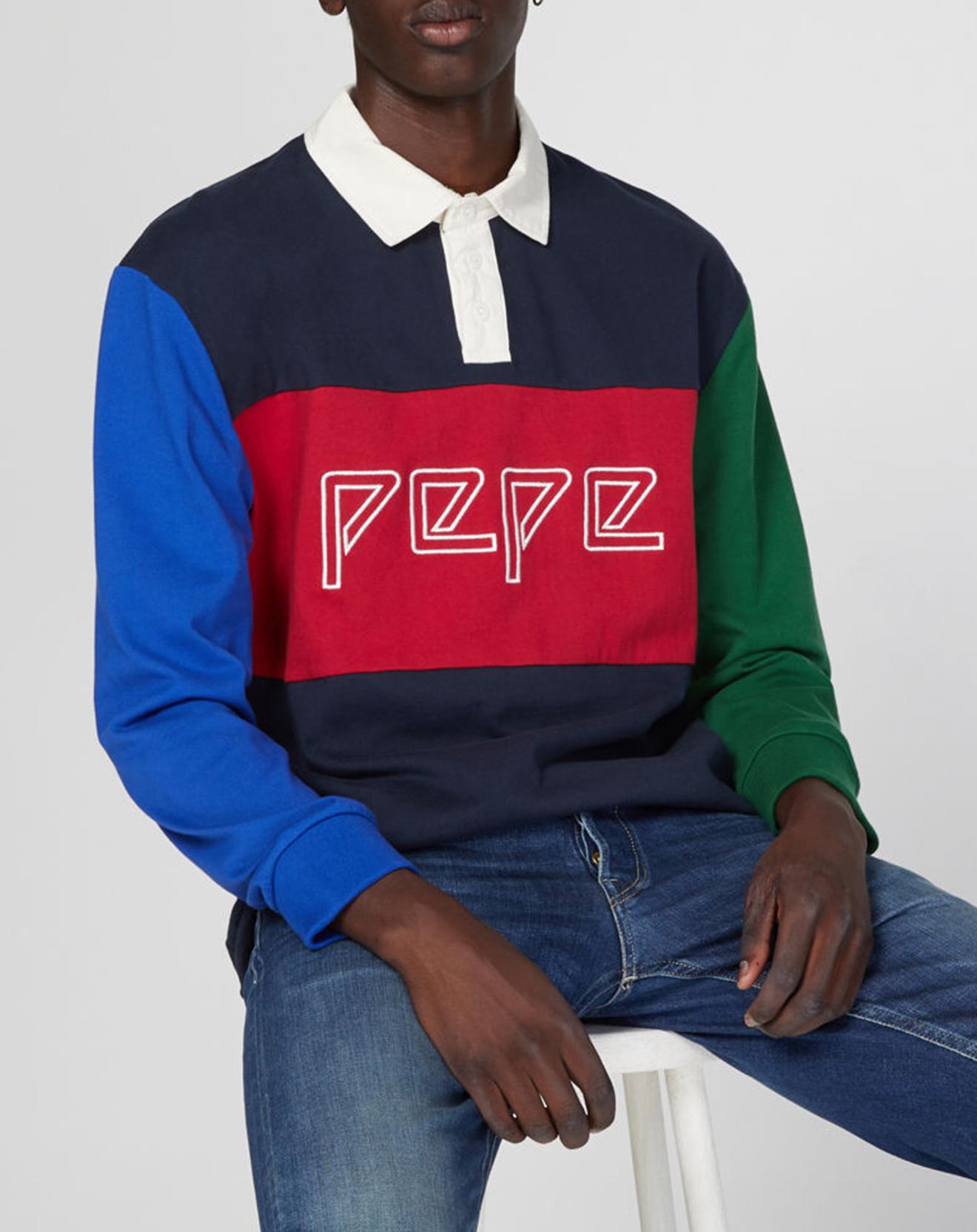 Polo Plakem Colorblock multicolore - Pepe Jeans - Modalova