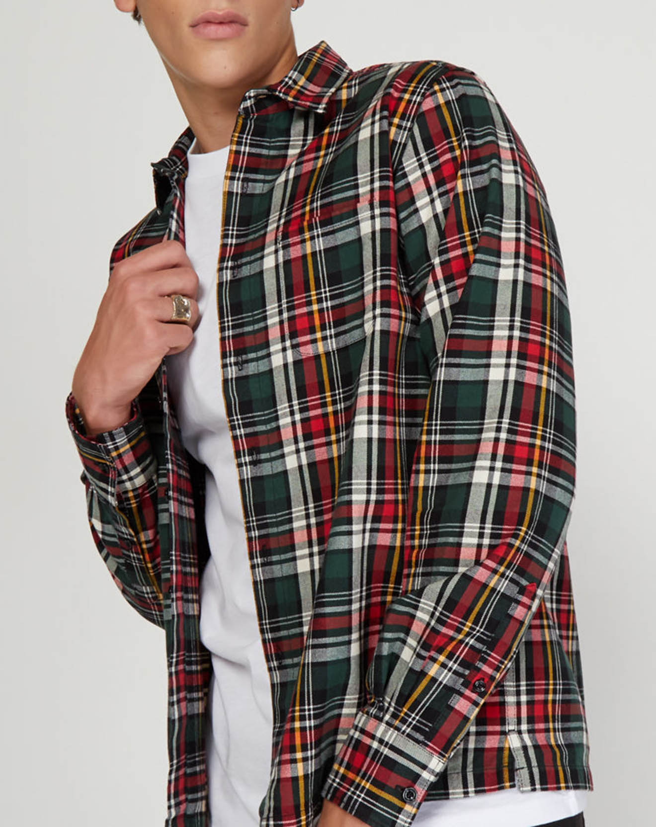 Chemise à carreaux rouge/vert - Replay - Modalova