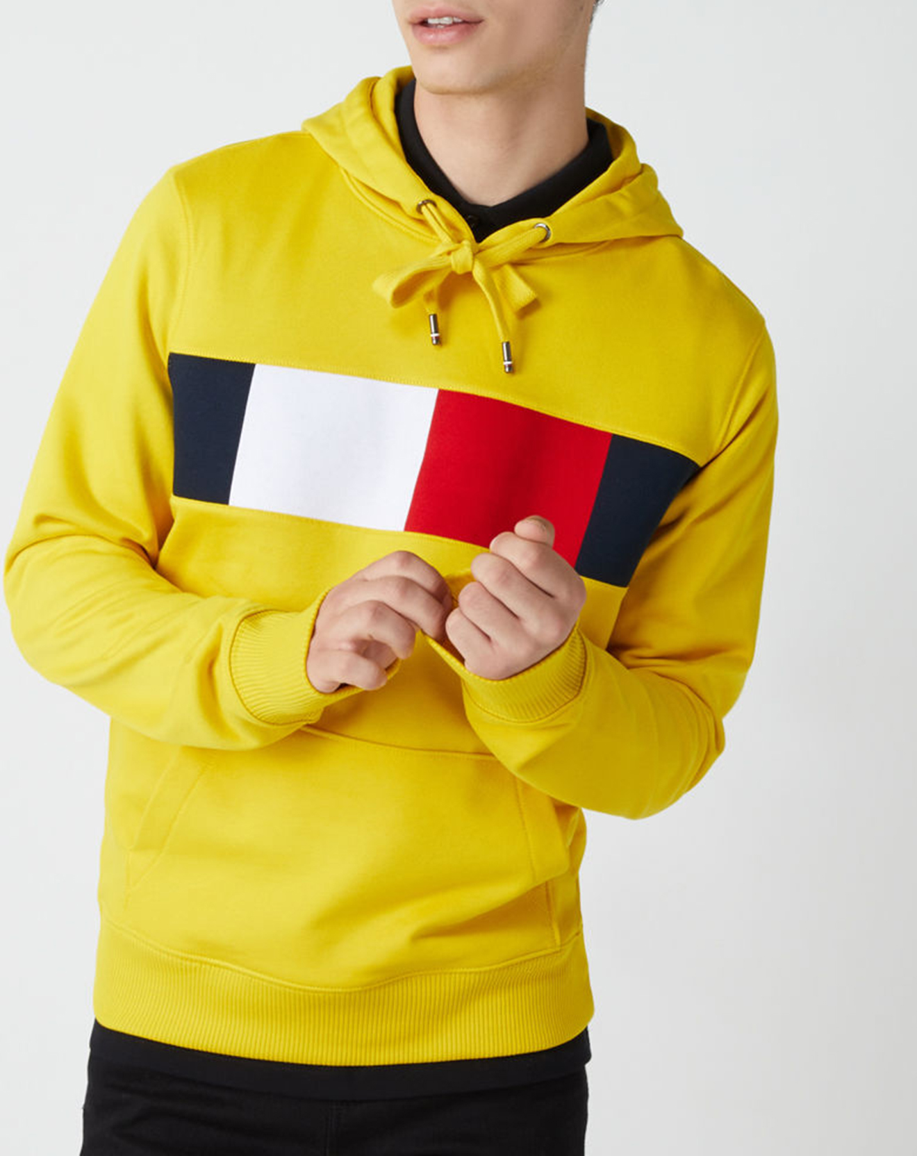 Sweat Big Logo patch poitrine jaune - Tommy Hilfiger - Modalova