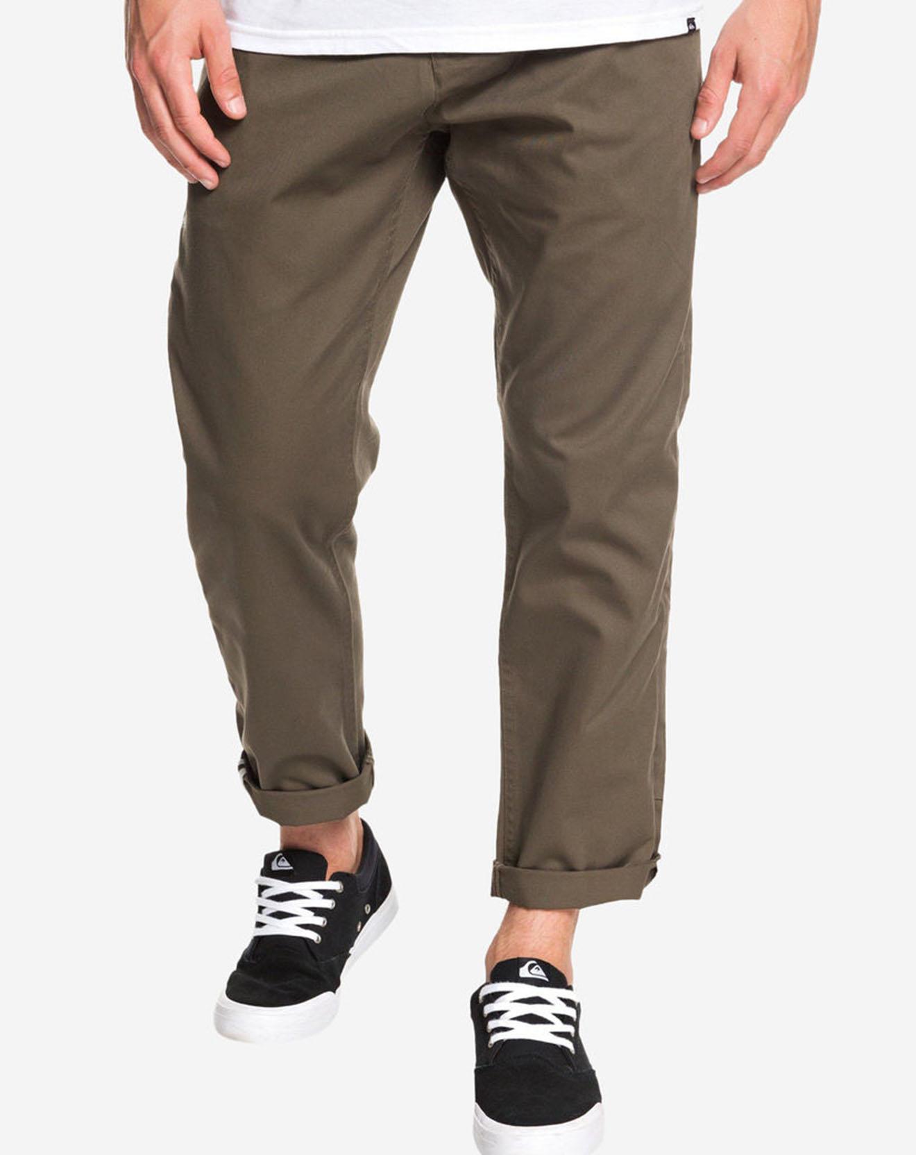Pantalon chino Tappered Disaray kaki - Quiksilver - Modalova