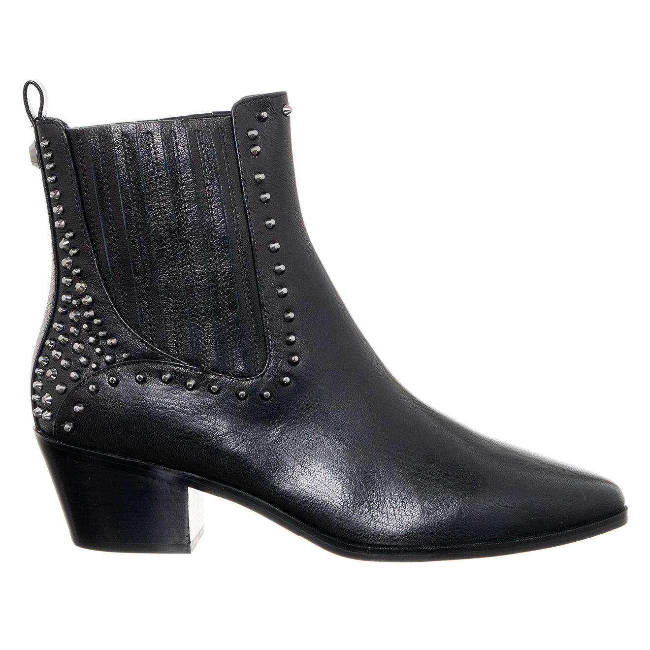 Boots en Cuir Bonnie noires - Liu-Jo - Modalova