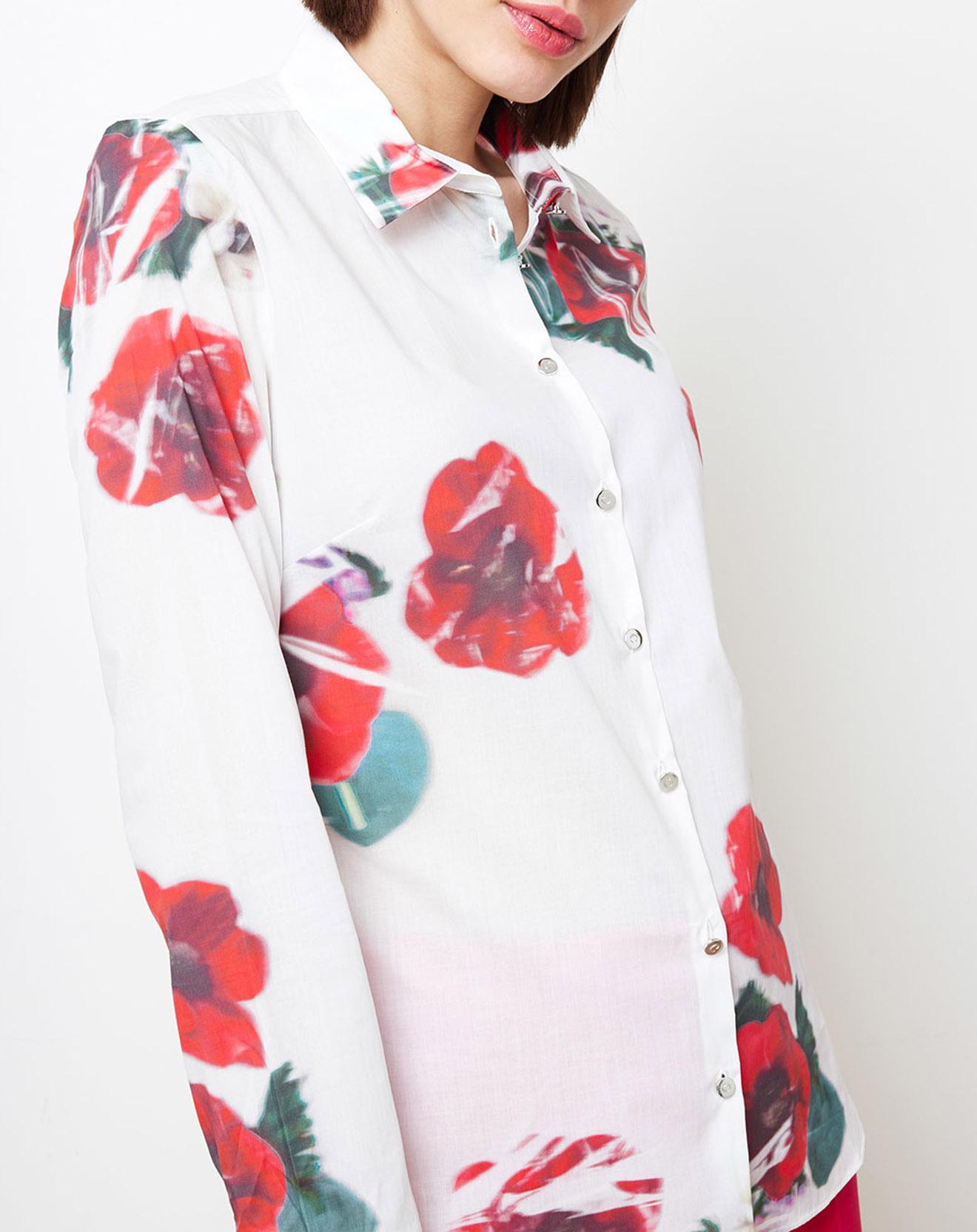Chemise imprimée floral blanc/rouge - Cacharel - Modalova