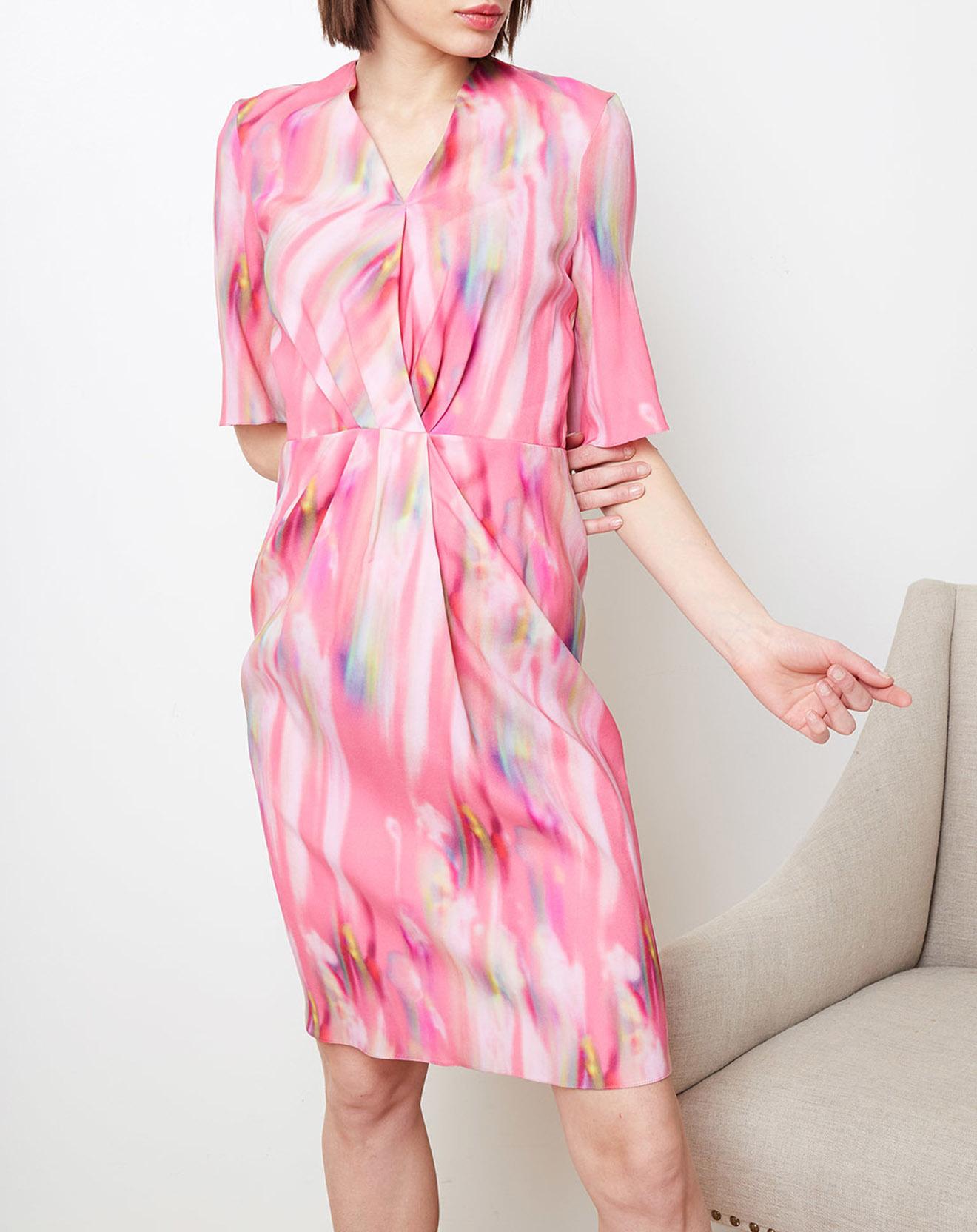 Robe portefeuille imprimée rose - Cacharel - Modalova