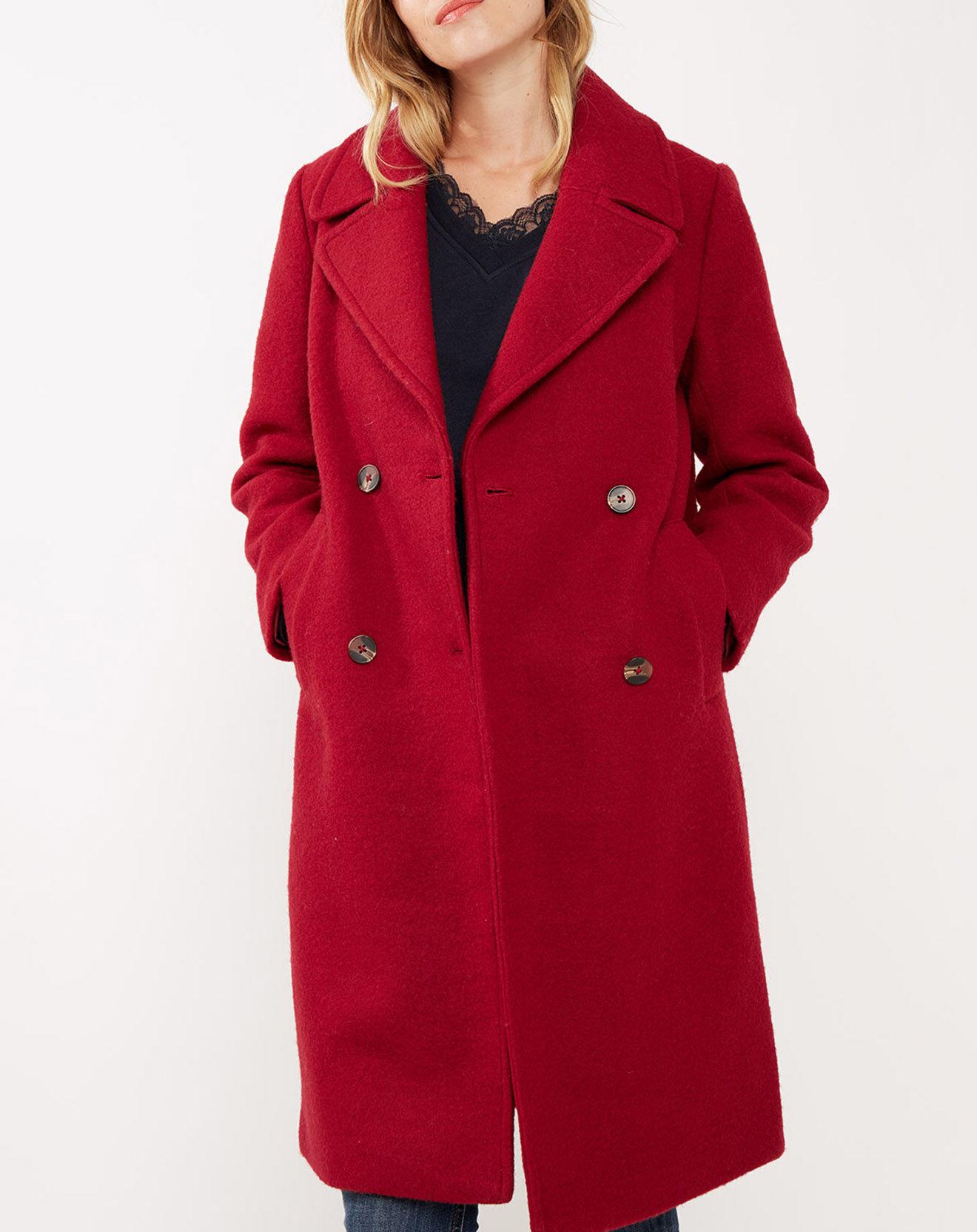 Manteau long en laine mélangée - Pepe Jeans - Modalova