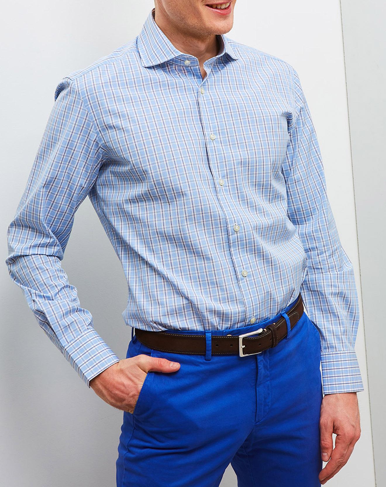Chemise slim fit Mayfair bleu/blanc - Hackett London - Modalova